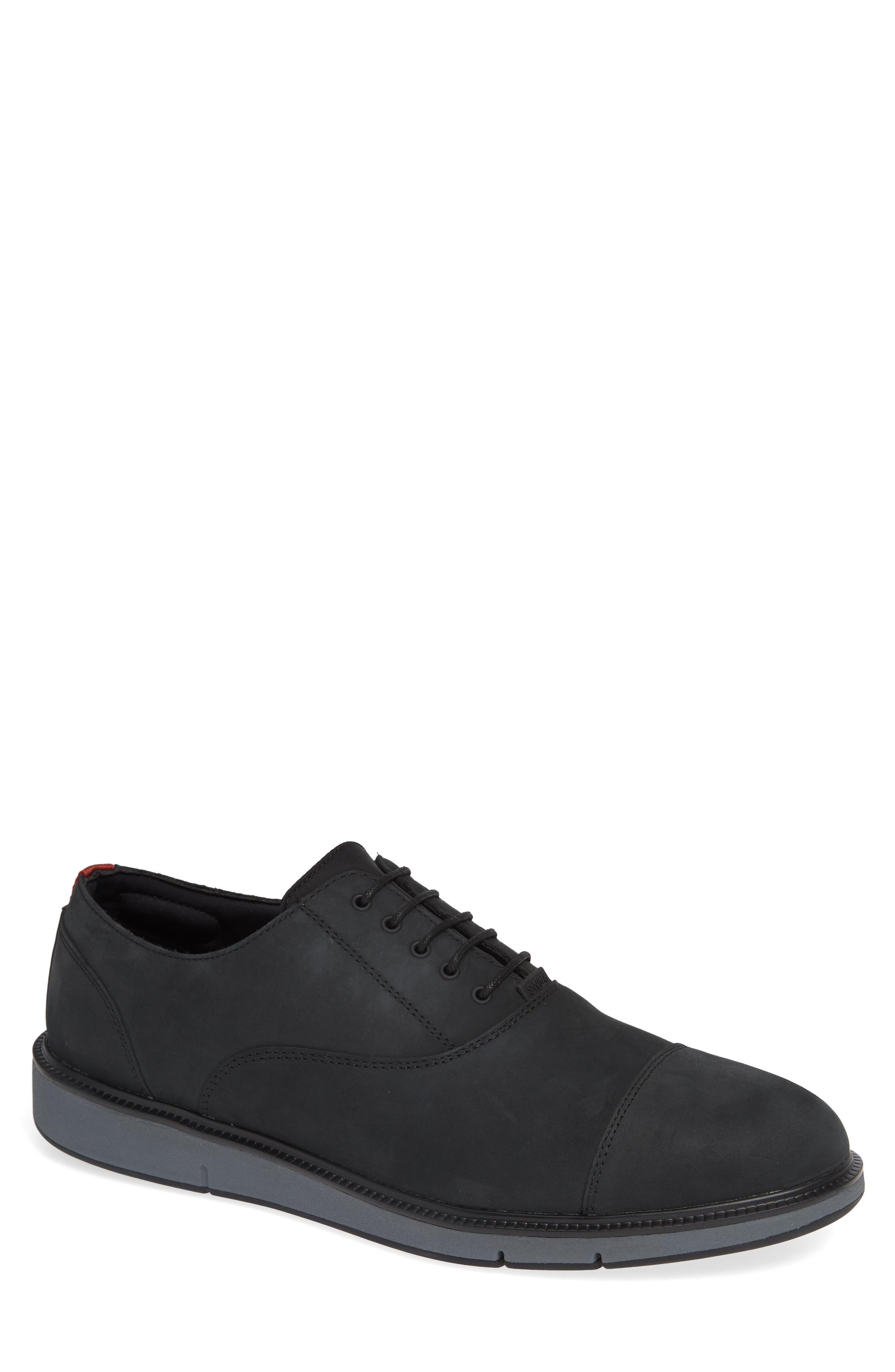Motion Cap Toe Oxford,                         Main,                         color, BLACK/ GRAPHITE