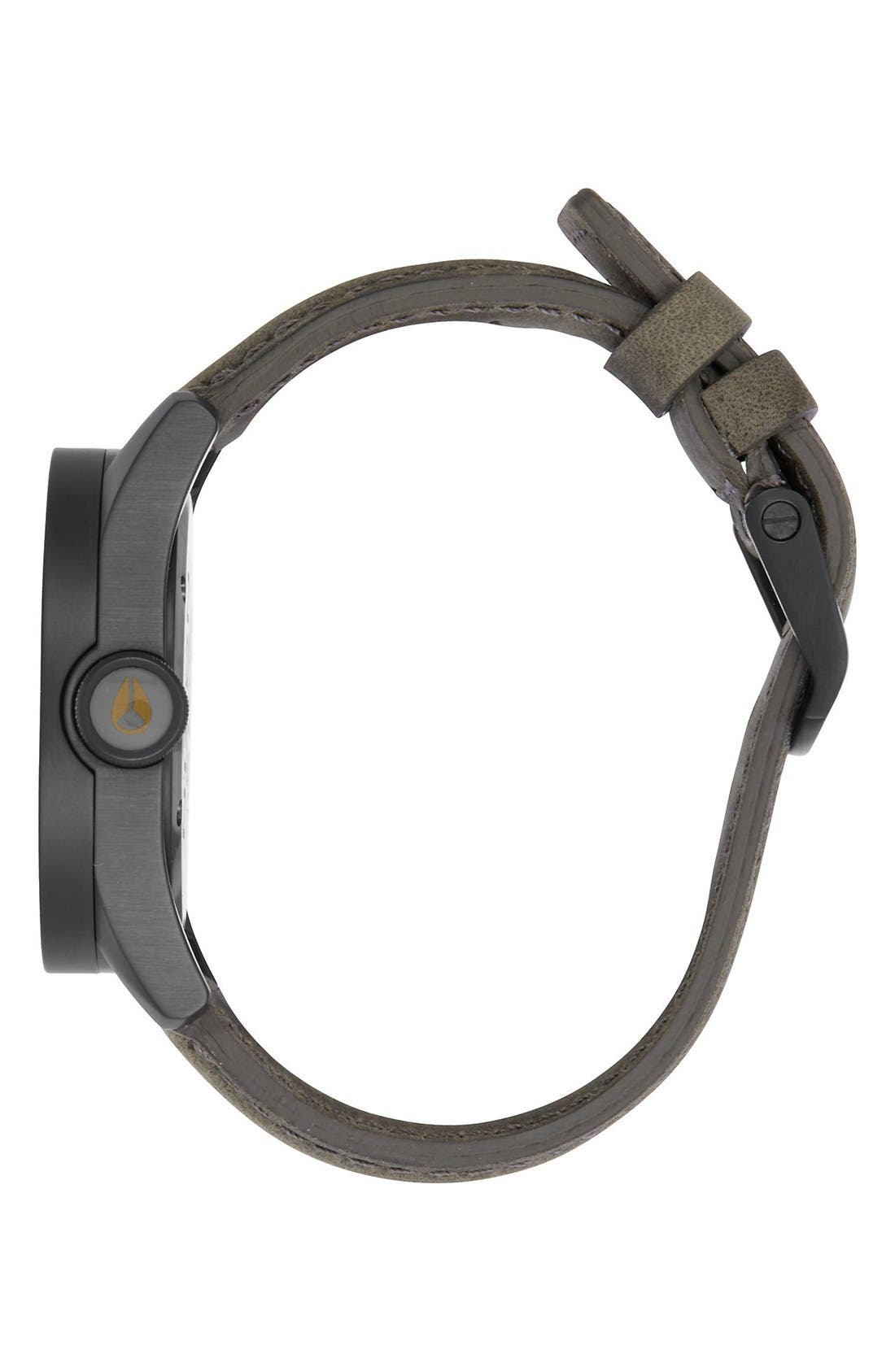 'Safari' Leather Strap Watch, 43mm,                             Alternate thumbnail 10, color,