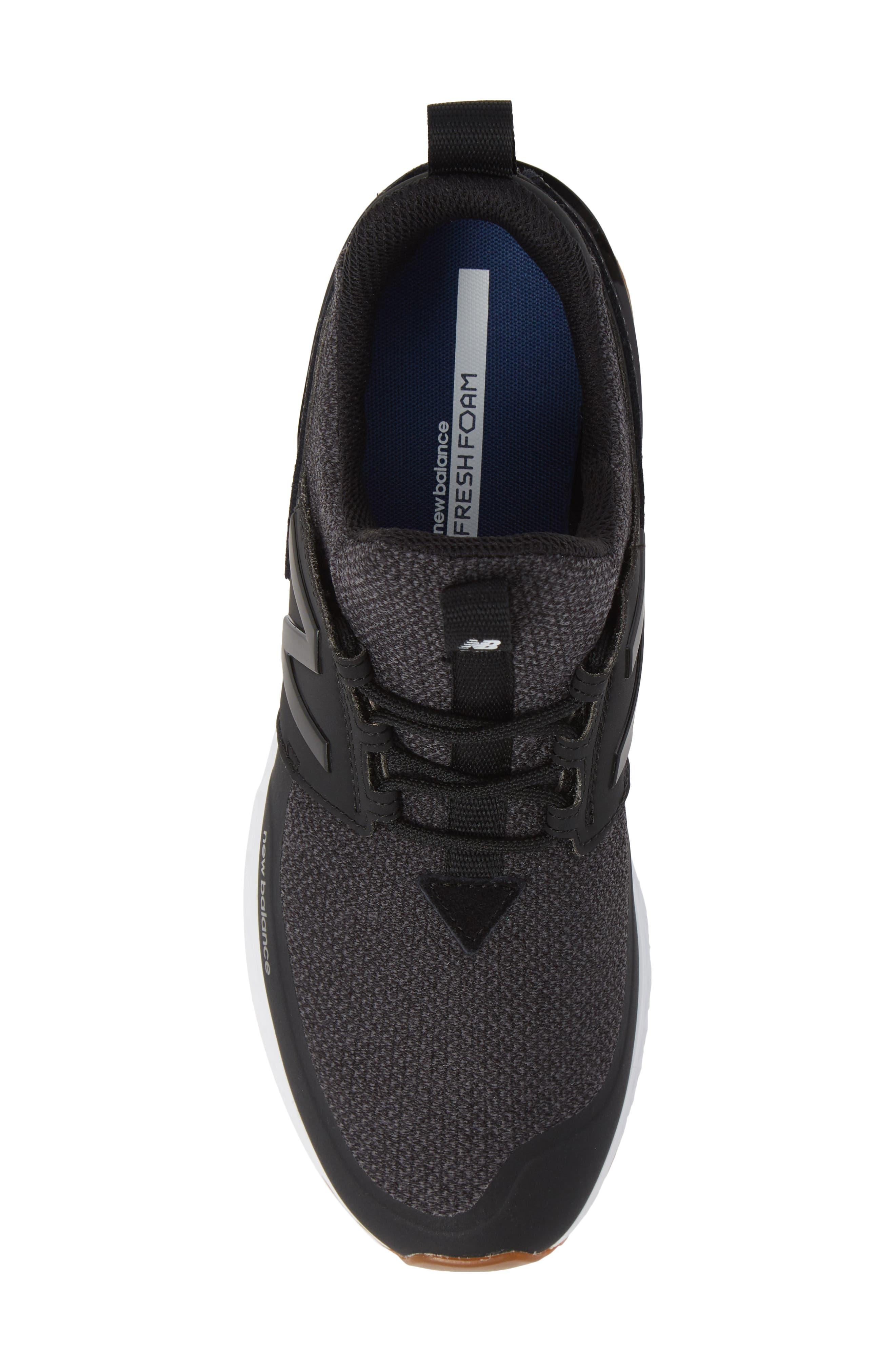 574 Sport Sneaker,                             Alternate thumbnail 5, color,                             BLACK SYNTHETIC/ TEXTILE
