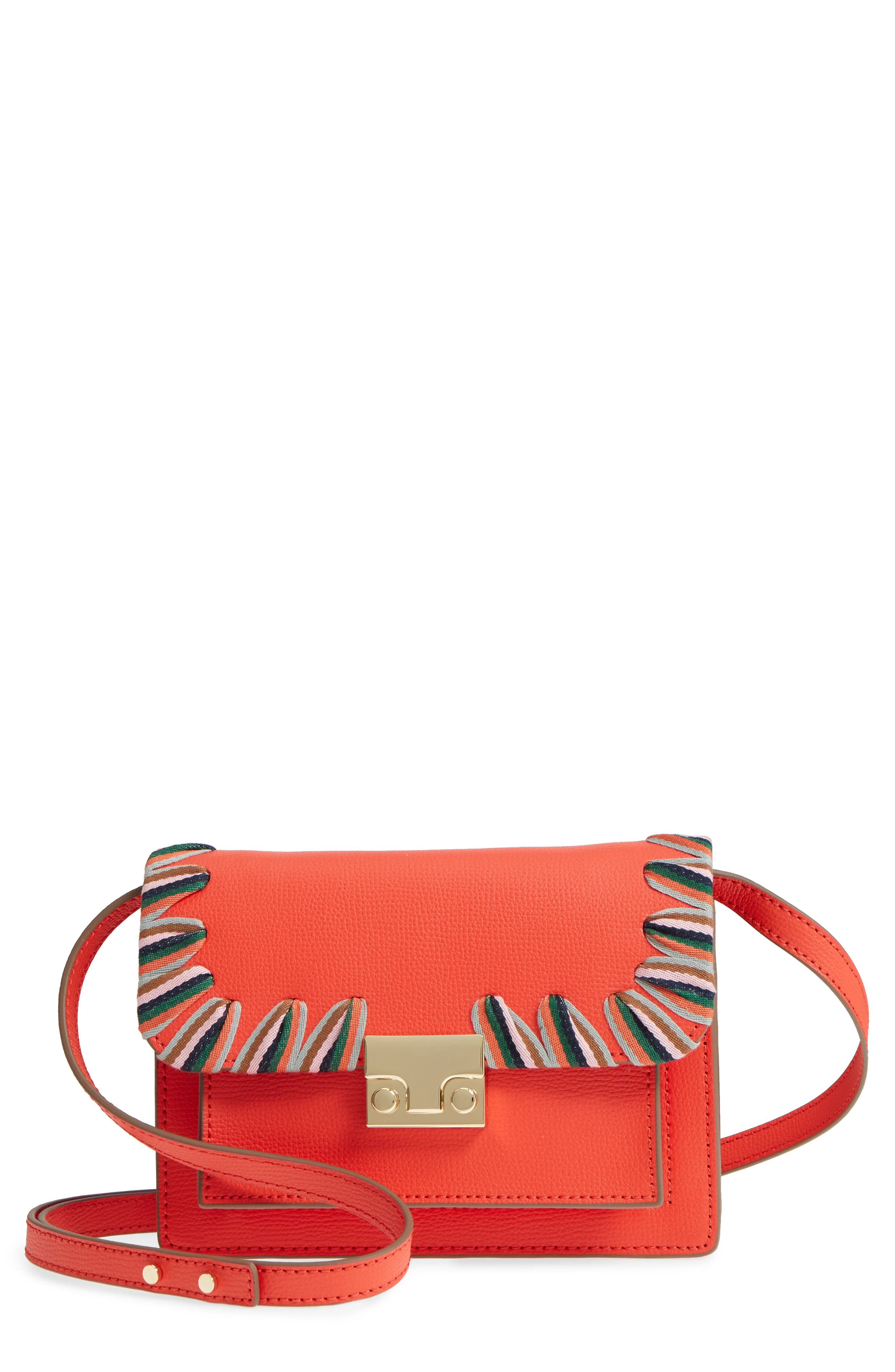 Mini Minimal Rider Leather Crossbody,                             Main thumbnail 1, color,                             802