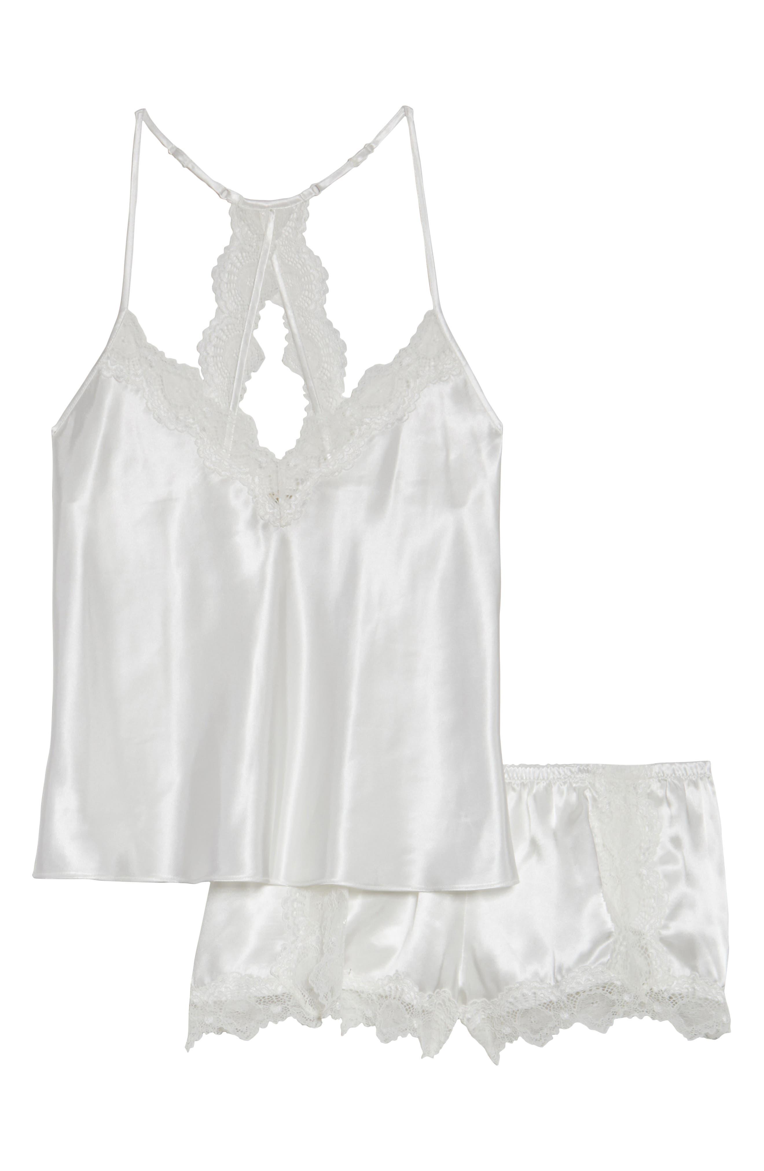 Satin Short Pajamas,                             Alternate thumbnail 40, color,