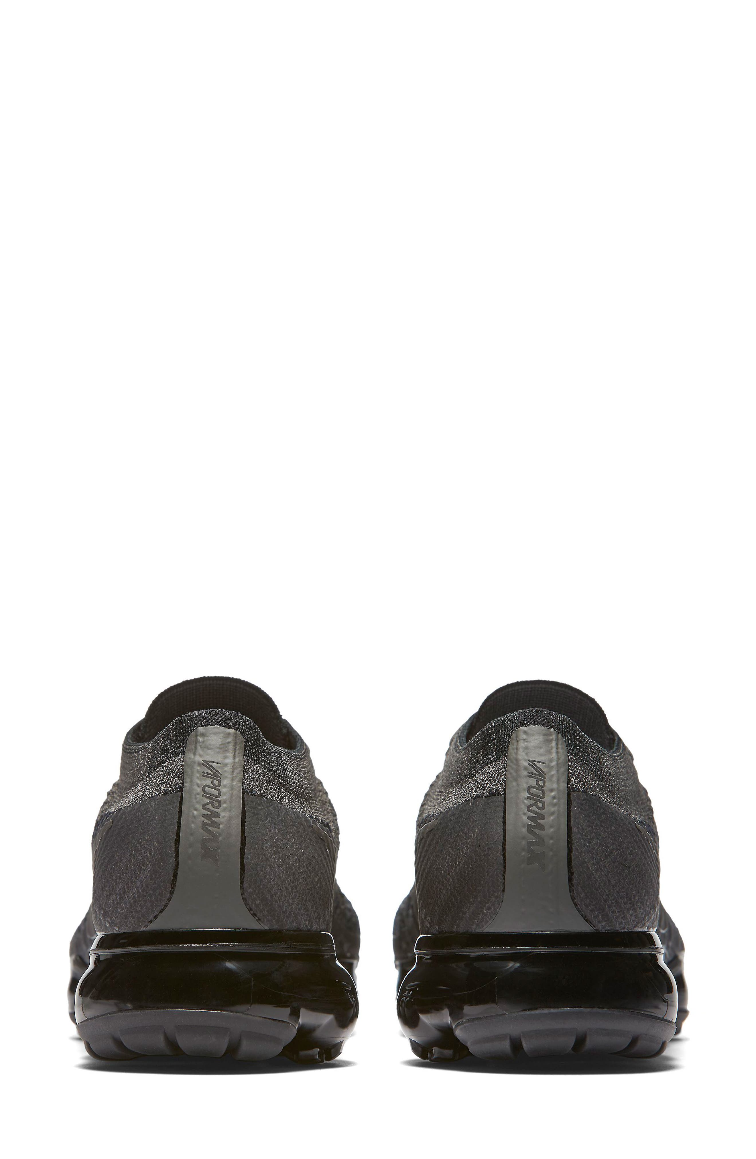 Air VaporMax Flyknit Running Shoe,                             Alternate thumbnail 2, color,                             MIDNIGHT FOG/ BLACK