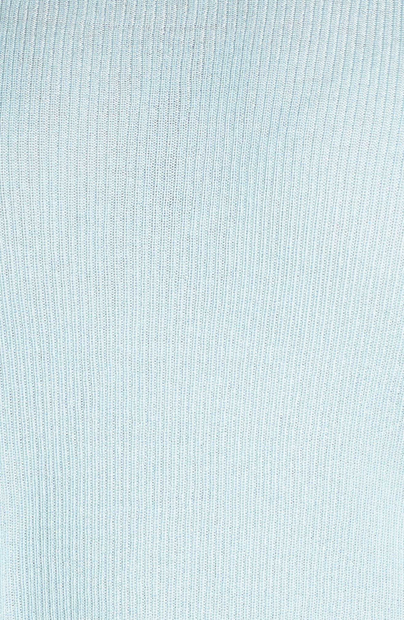 Drop Shoulder Ribbed Sweater,                             Alternate thumbnail 6, color,                             BLUE STERLING