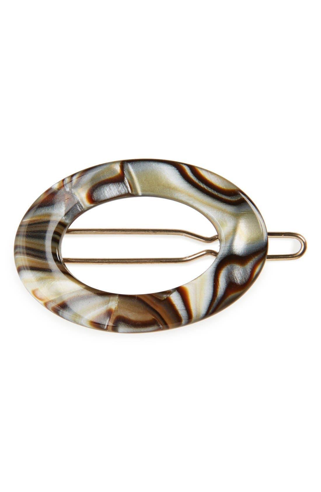 Oval Tige Boule Barrette,                             Main thumbnail 1, color,                             020