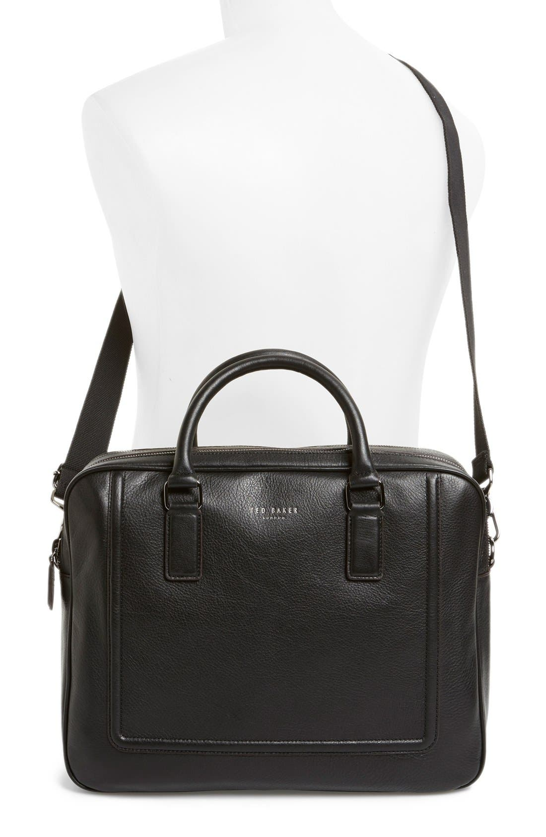 'Ragna' Leather Bowler Bag,                             Alternate thumbnail 2, color,                             001