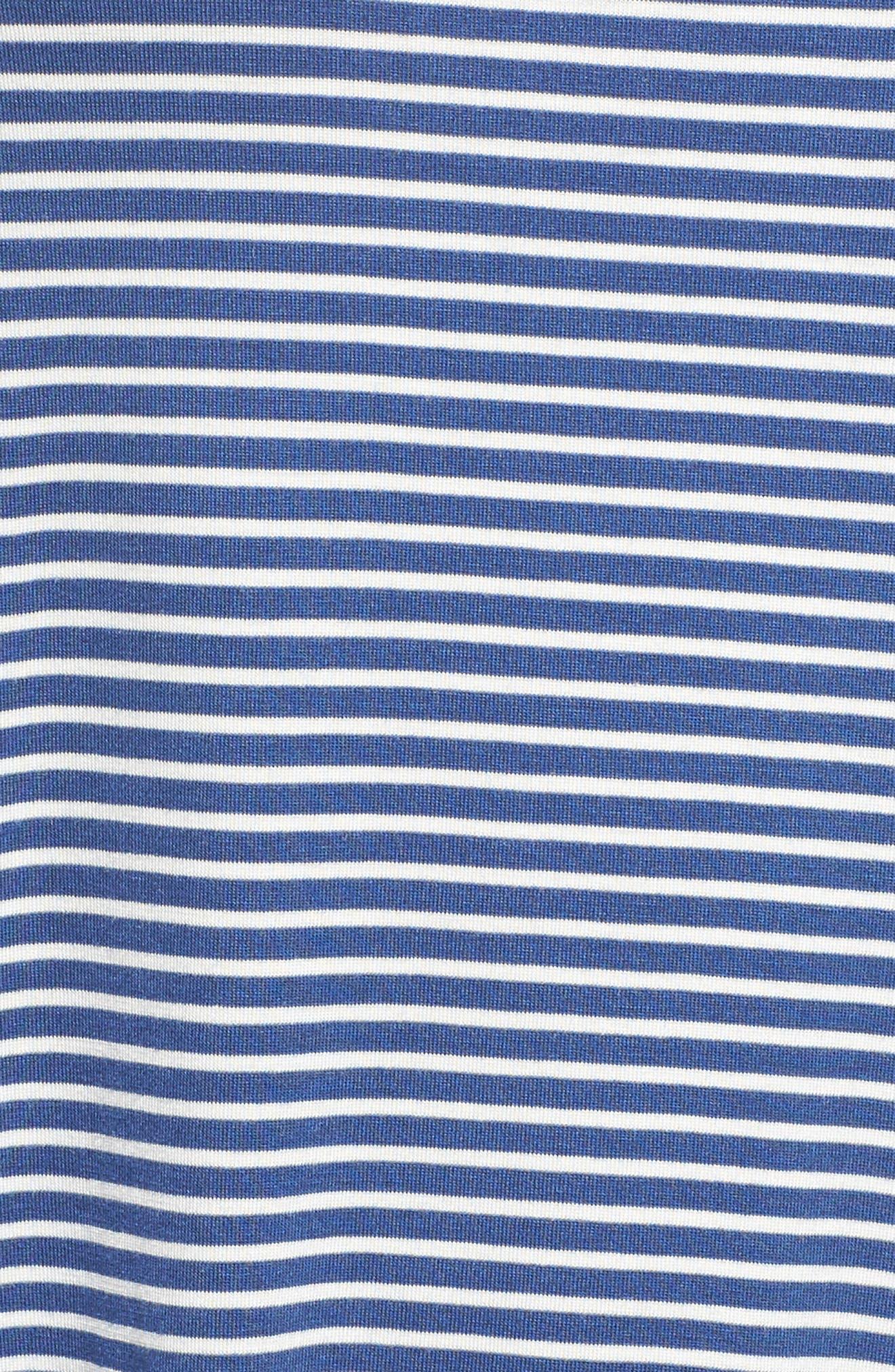 Ruffle Cuff Stripe Top,                             Alternate thumbnail 5, color,                             486