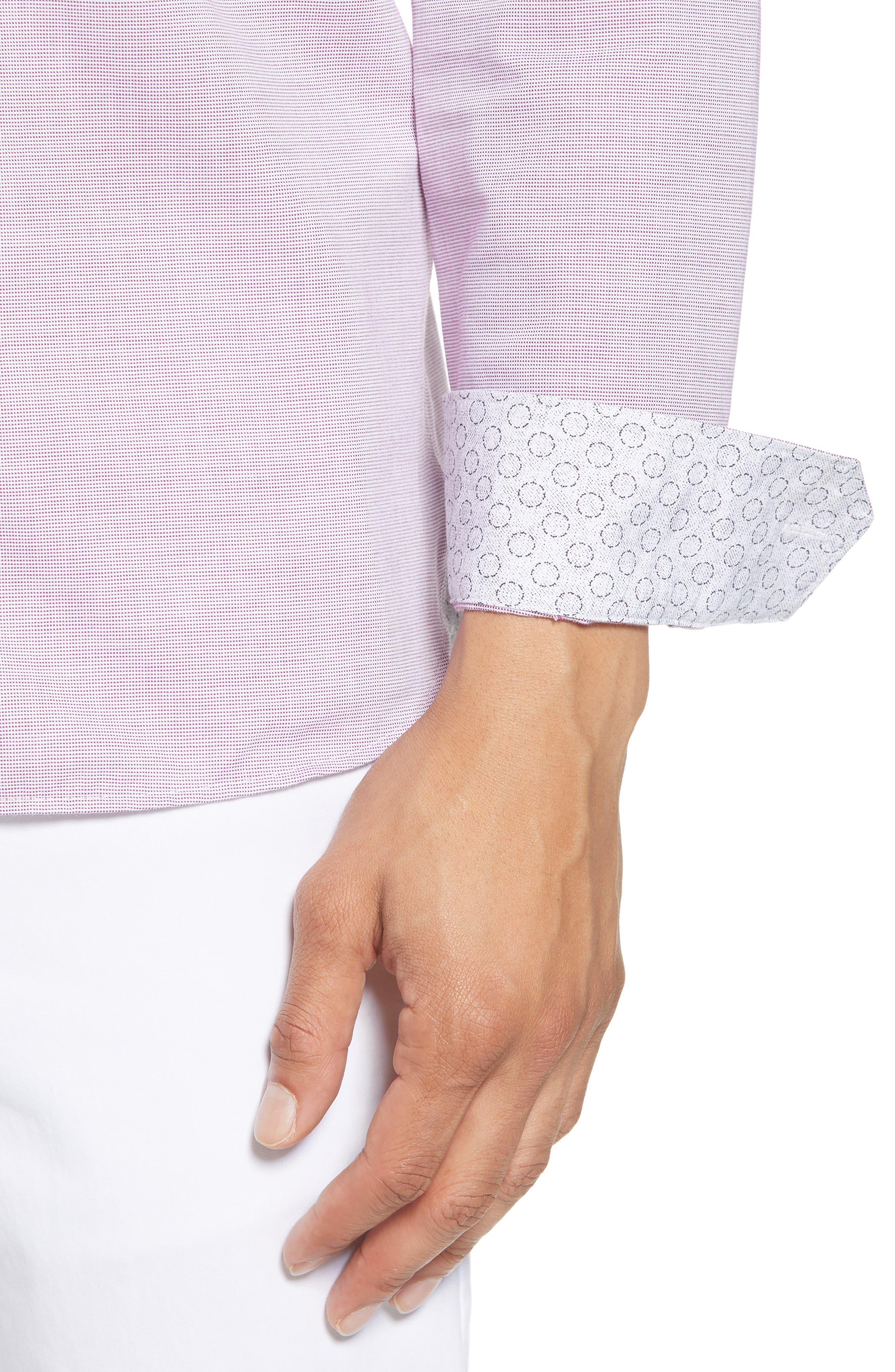 Slim Fit Textured Sport Shirt,                             Alternate thumbnail 20, color,