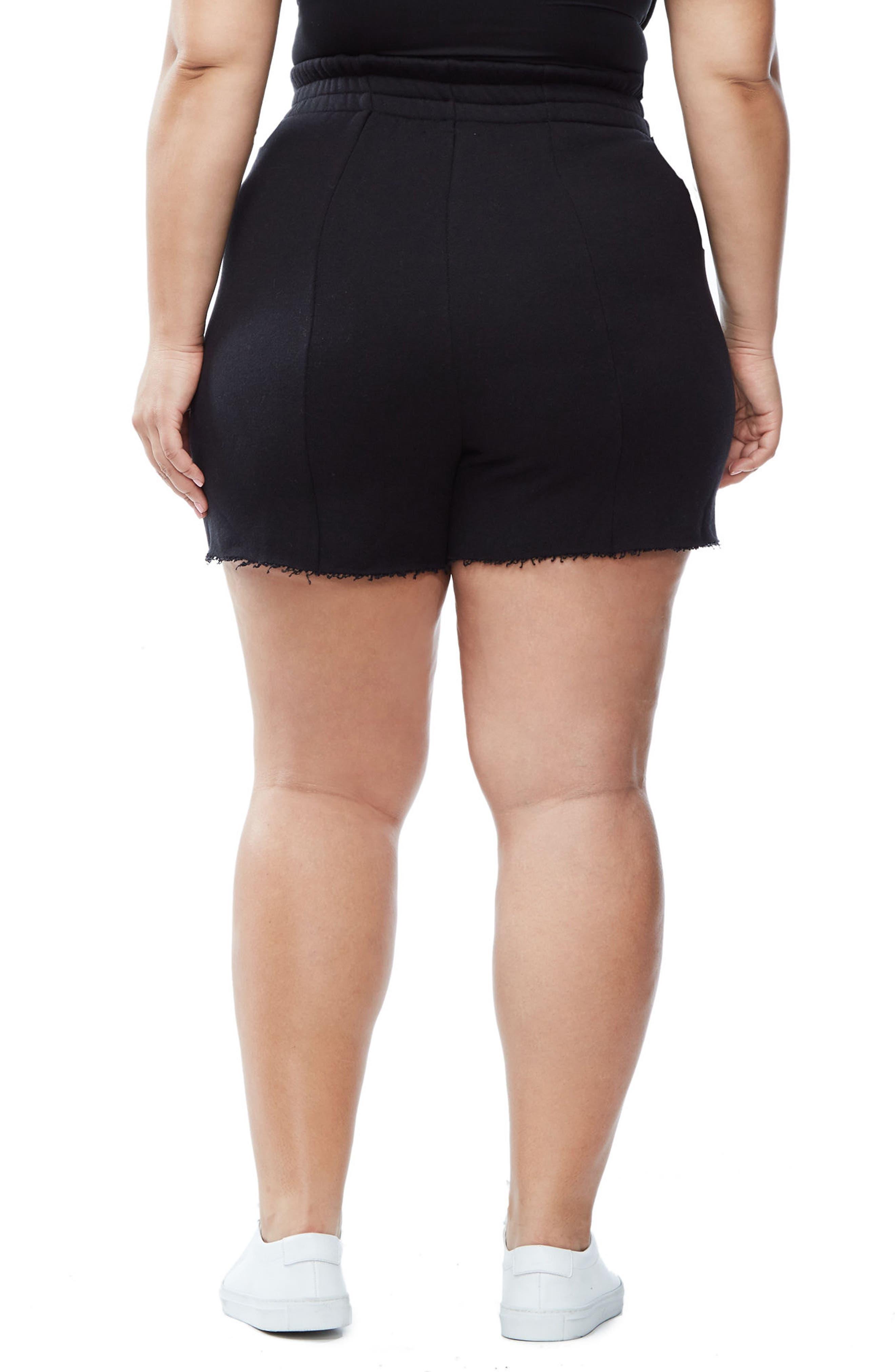 Good Sweats The High Waist Shorts,                             Alternate thumbnail 3, color,                             002
