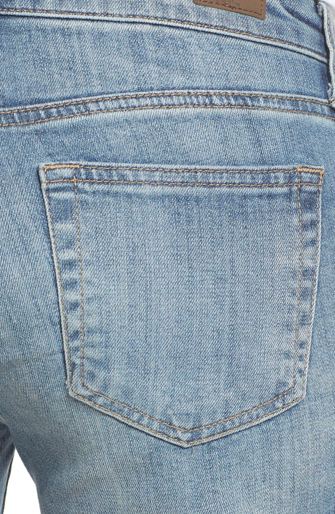 'Gidget' Denim Cutoff Shorts,                             Alternate thumbnail 7, color,                             420