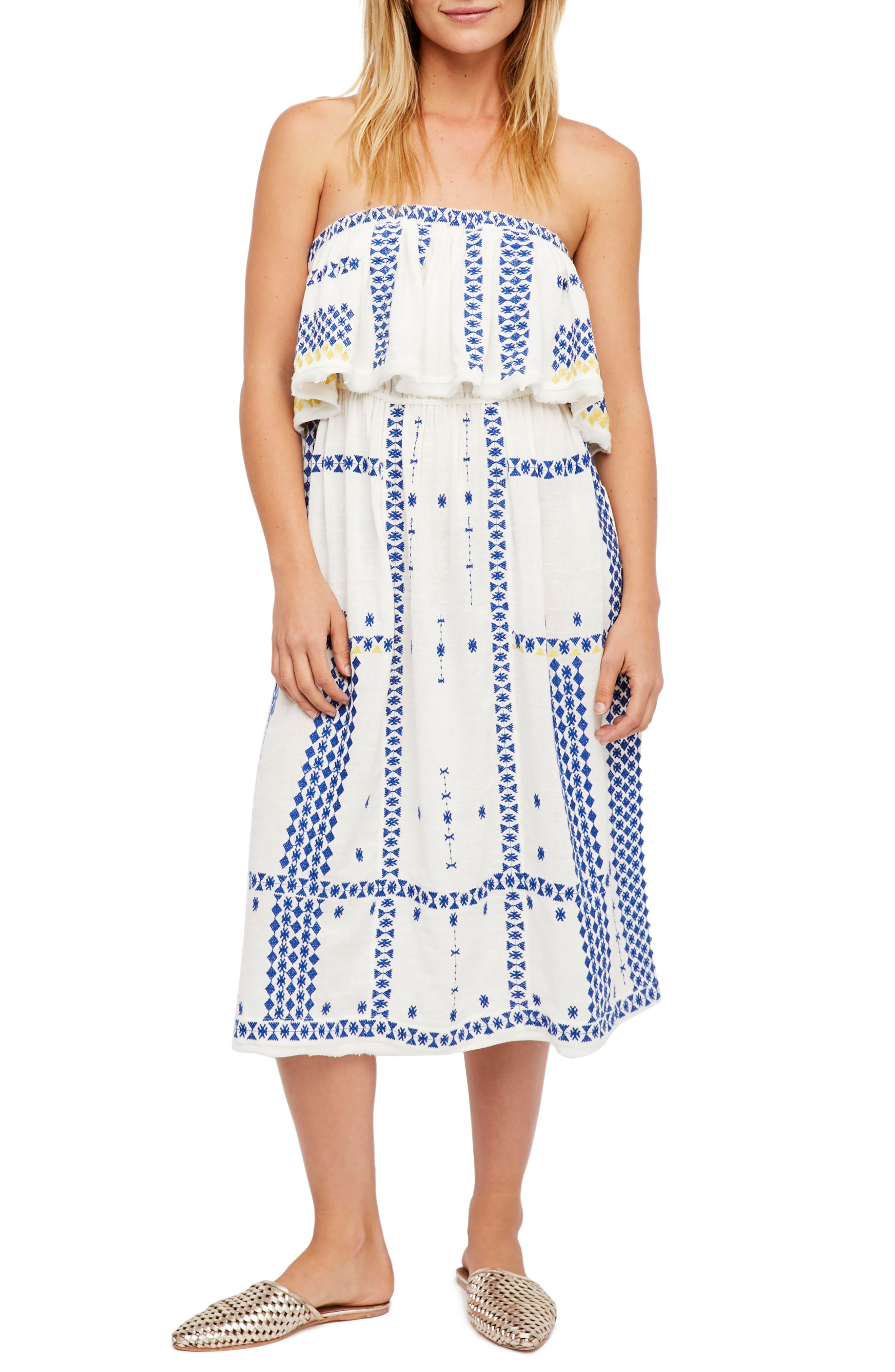Wild Romance Embroidered Dress,                             Main thumbnail 1, color,                             903