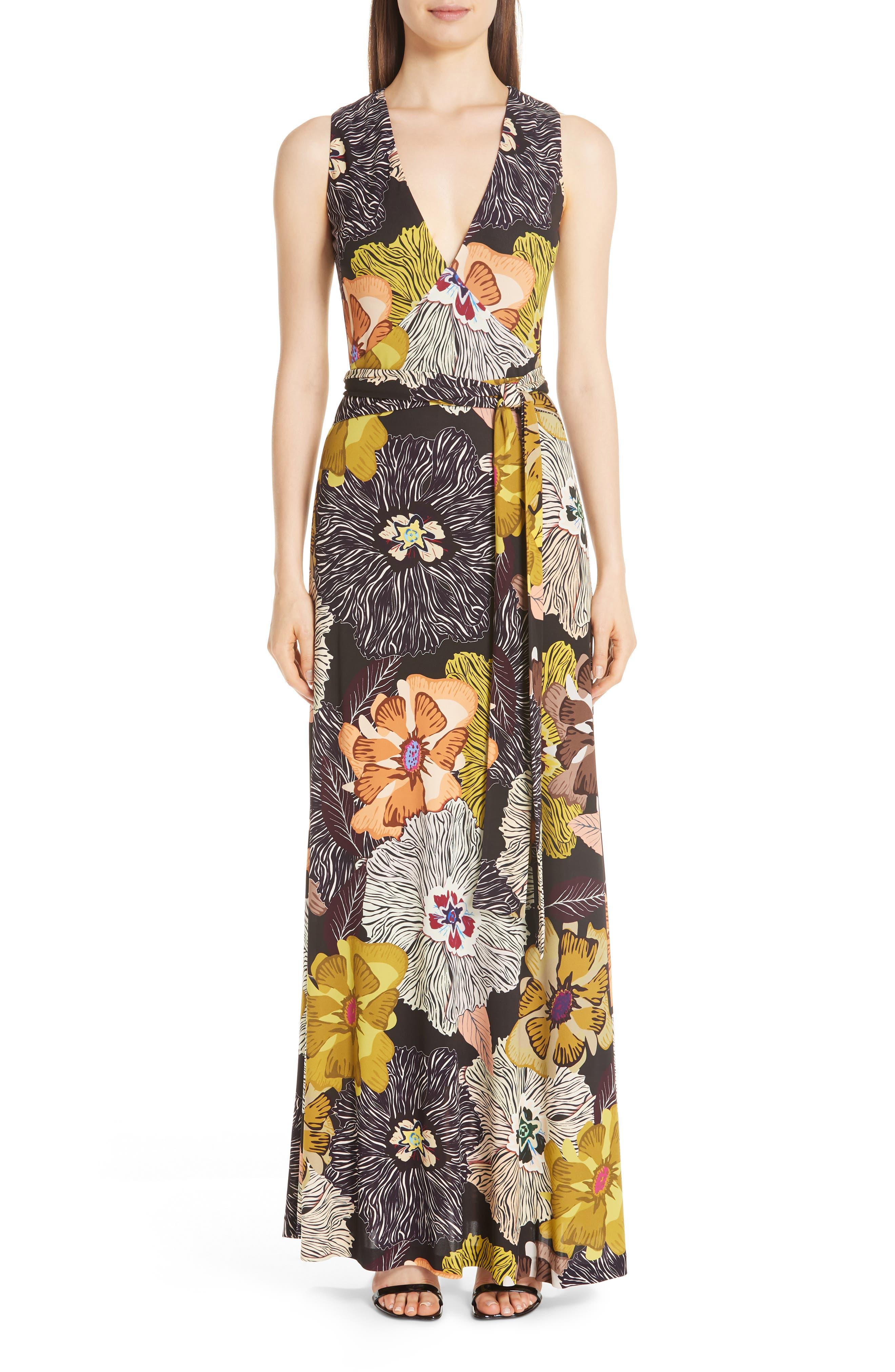 Etro Floral Print Jersey Maxi Dress