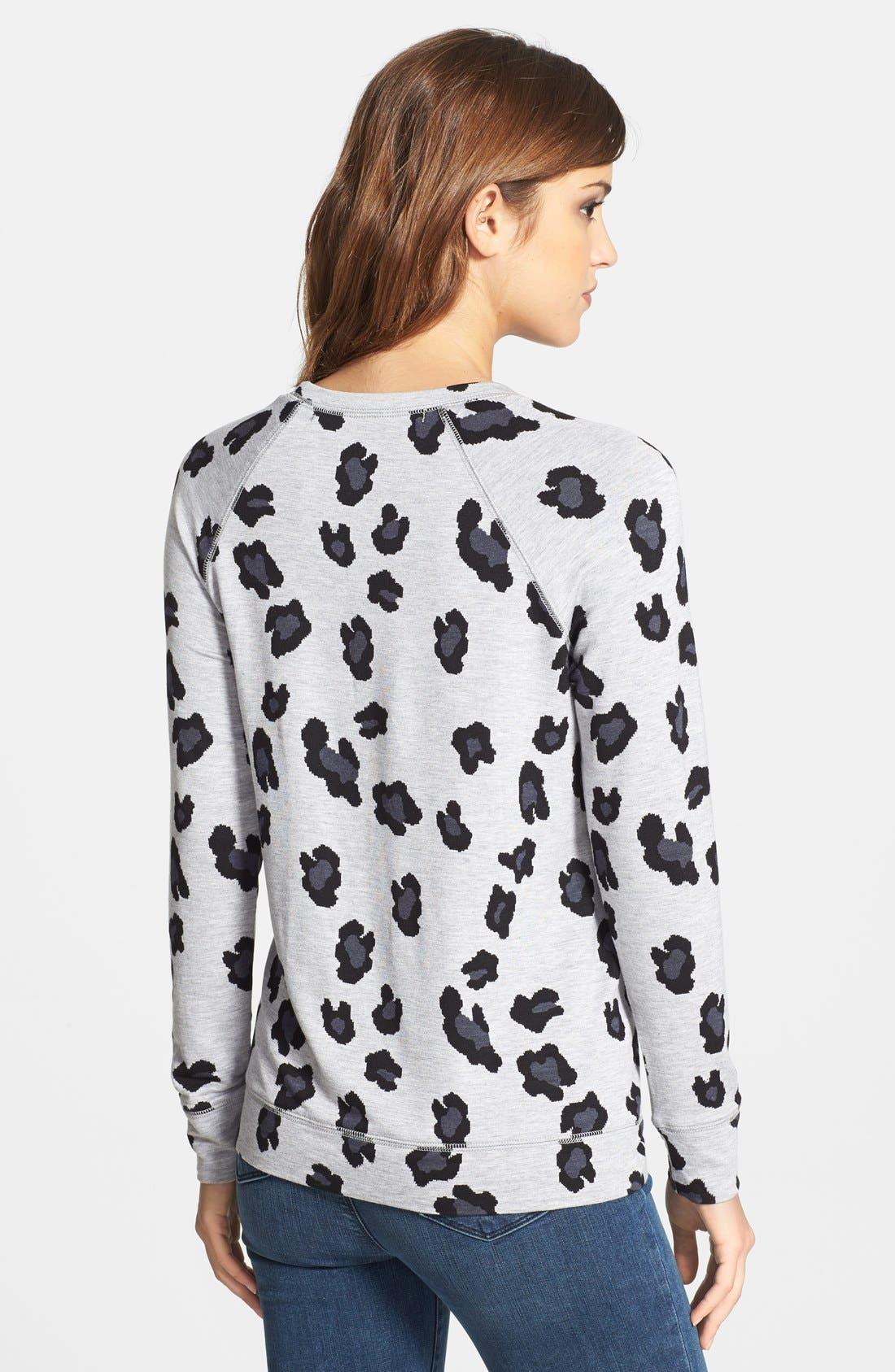 Animal Print Sweatshirt,                             Alternate thumbnail 3, color,                             020