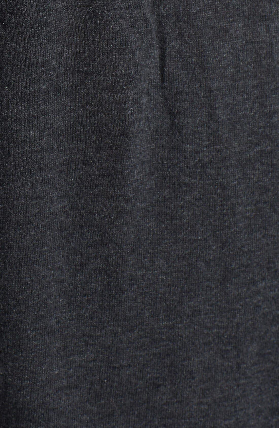 Zip Shoulder Crewneck Tunic Sweater,                             Alternate thumbnail 3, color,                             021
