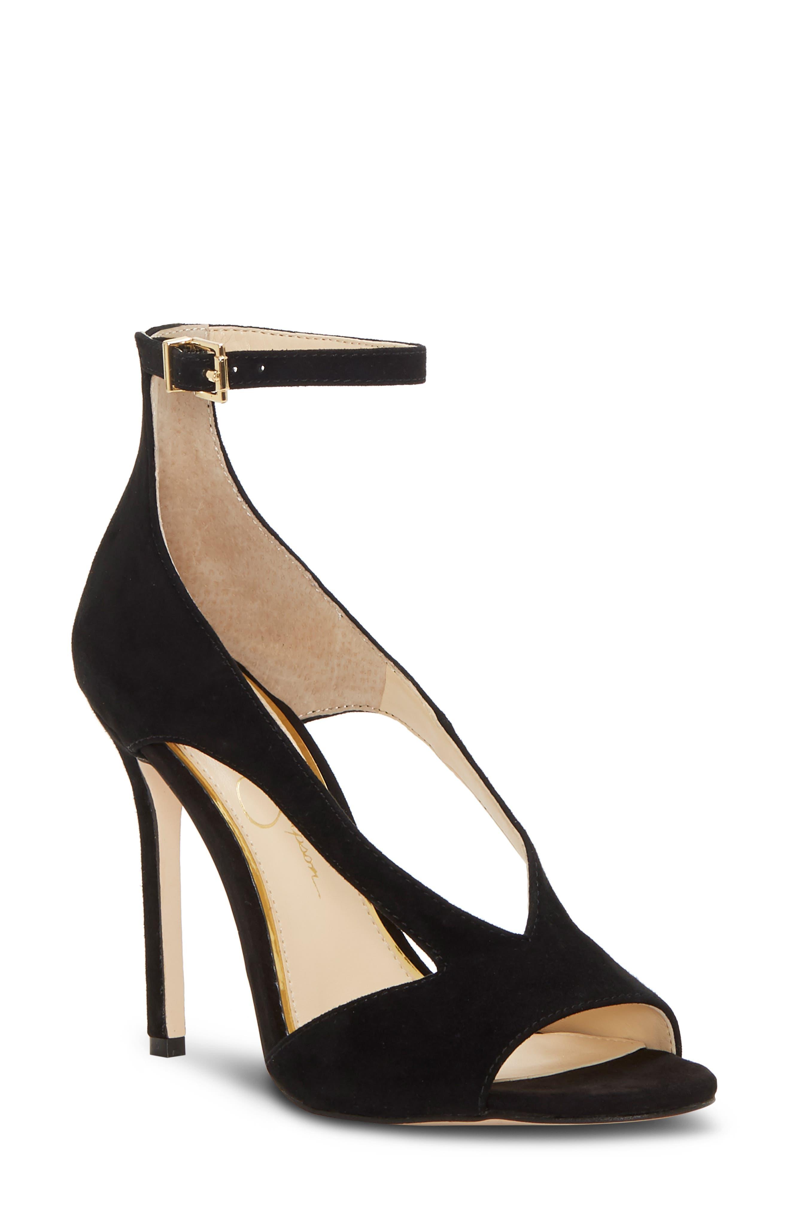 Jessica Simpson Jasta Ankle Strap Sandal- Black