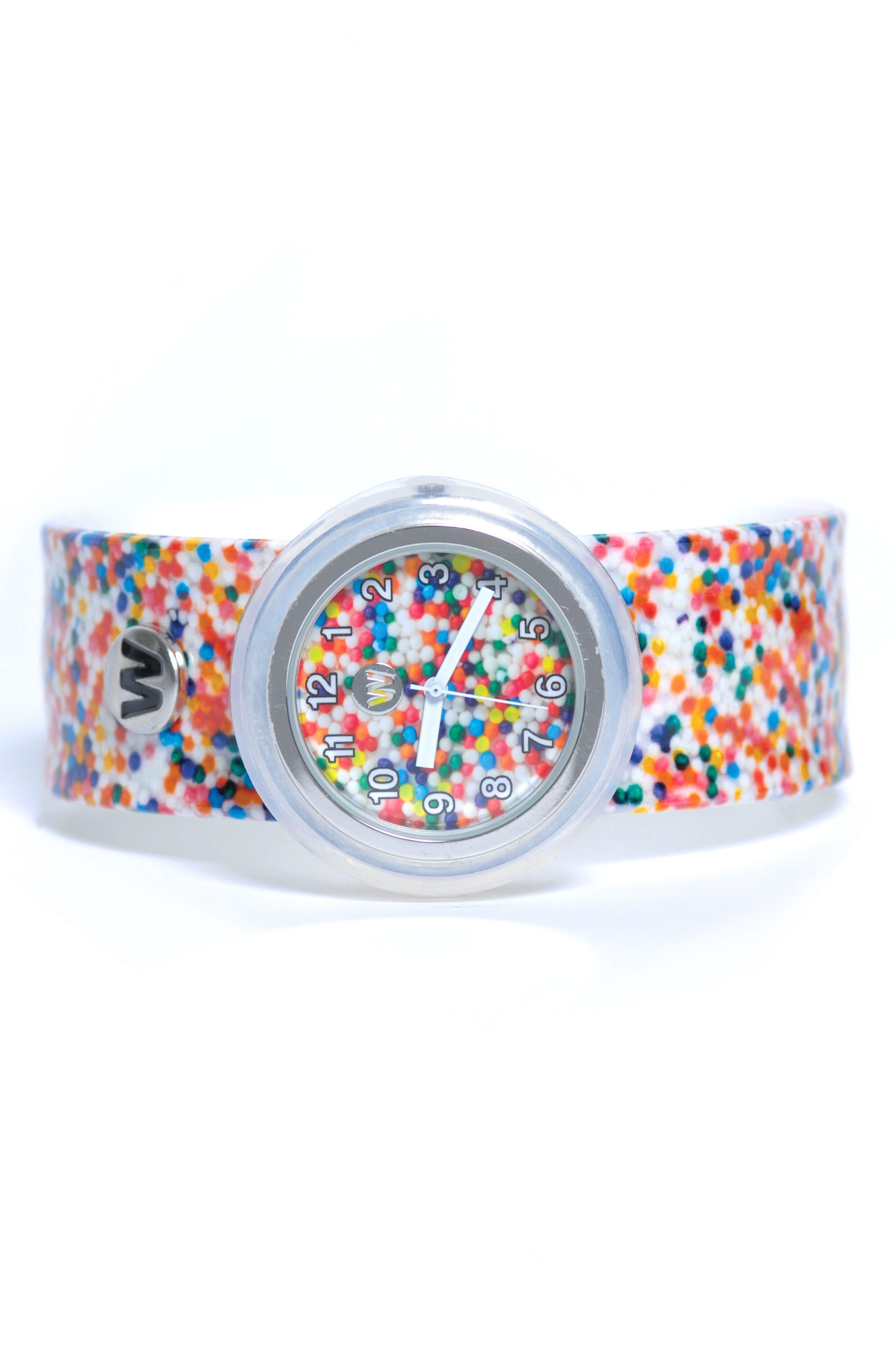 Sprinkle Dots Slap Watch,                         Main,                         color, 100