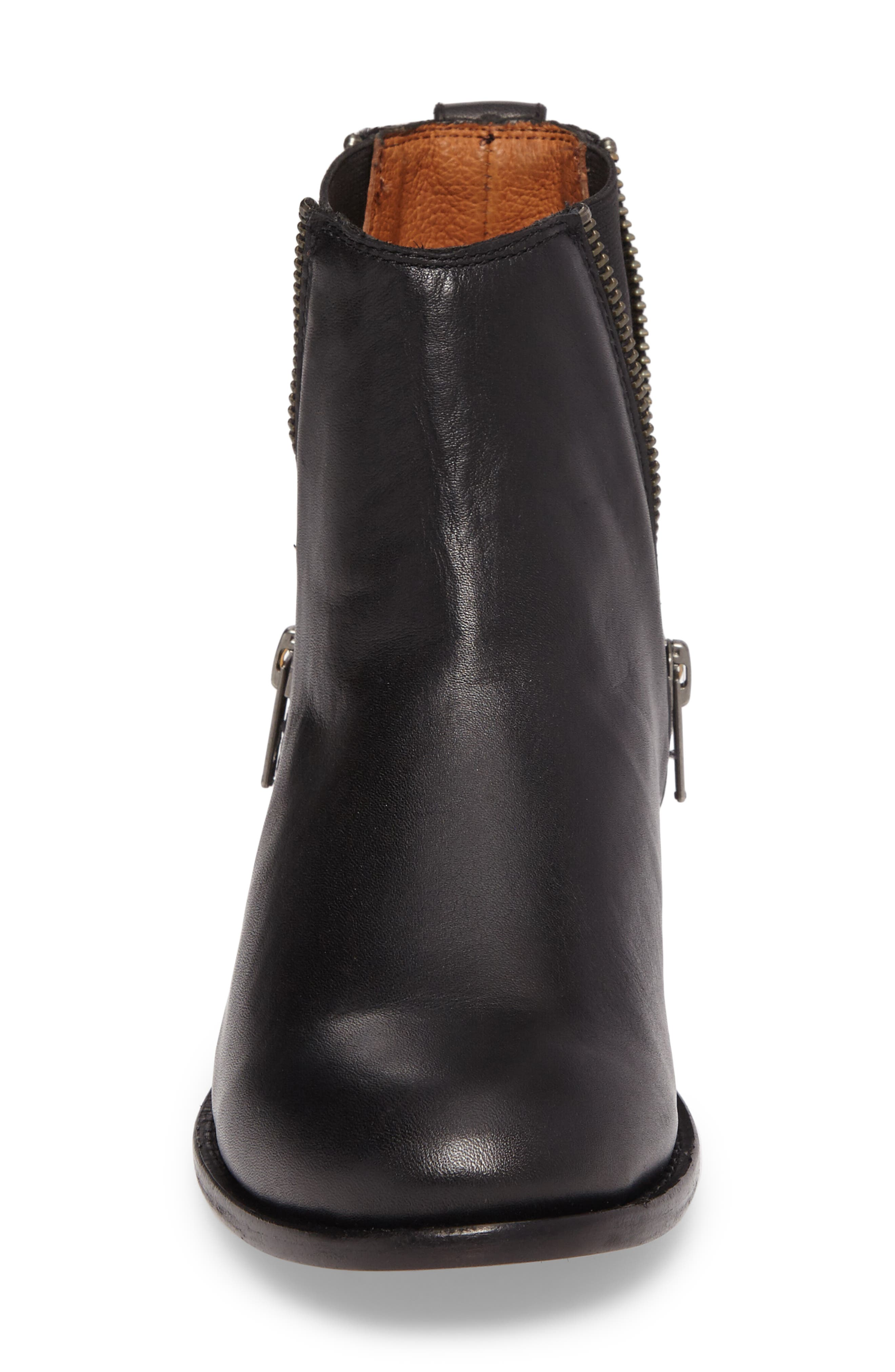 Carly Chelsea Boot,                             Alternate thumbnail 4, color,                             BLACK LEATHER