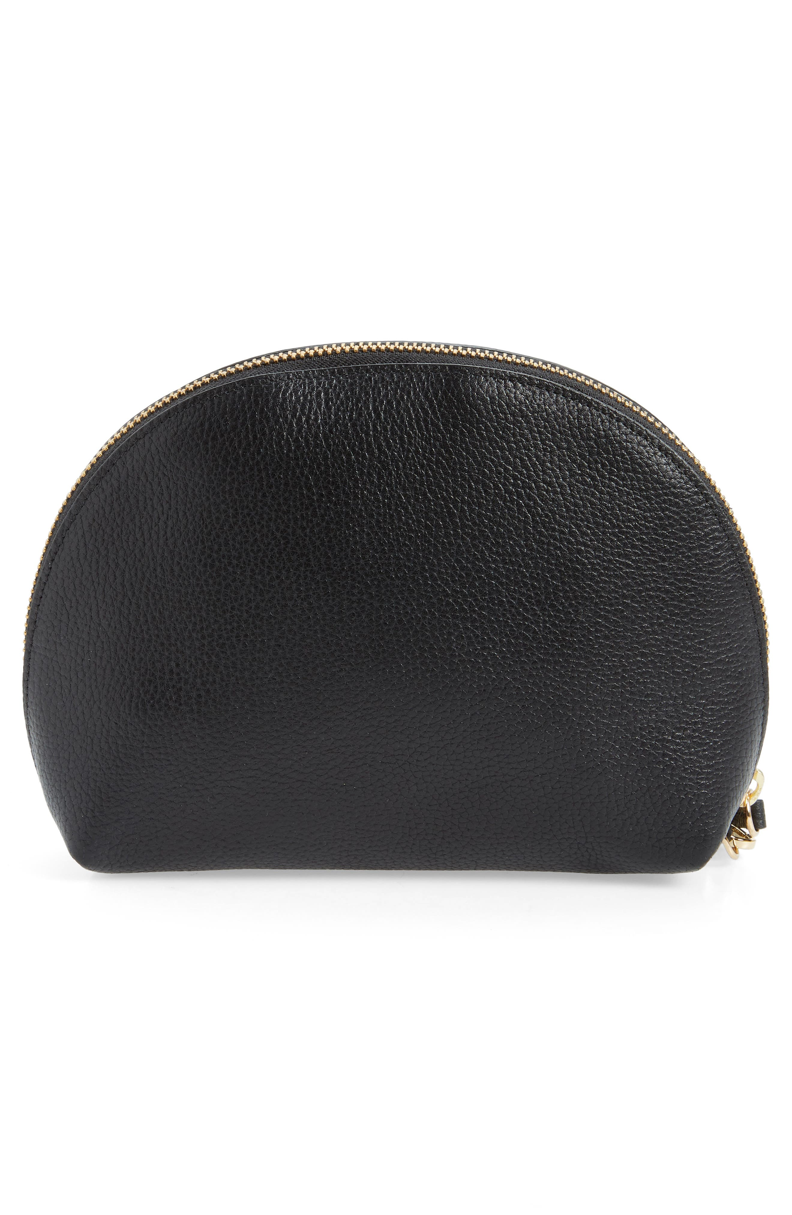 Sophia Leather Wristlet,                             Alternate thumbnail 3, color,                             001