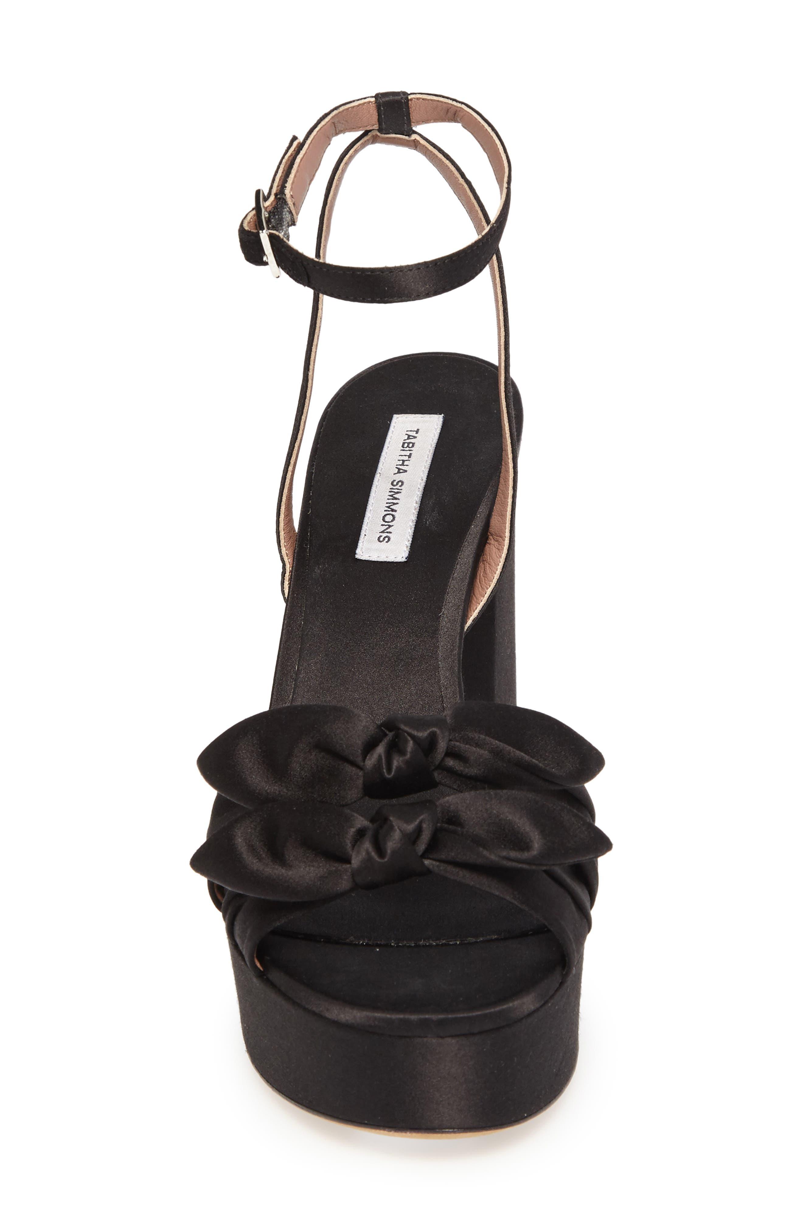 Jodie Platform Sandal,                             Alternate thumbnail 4, color,                             001