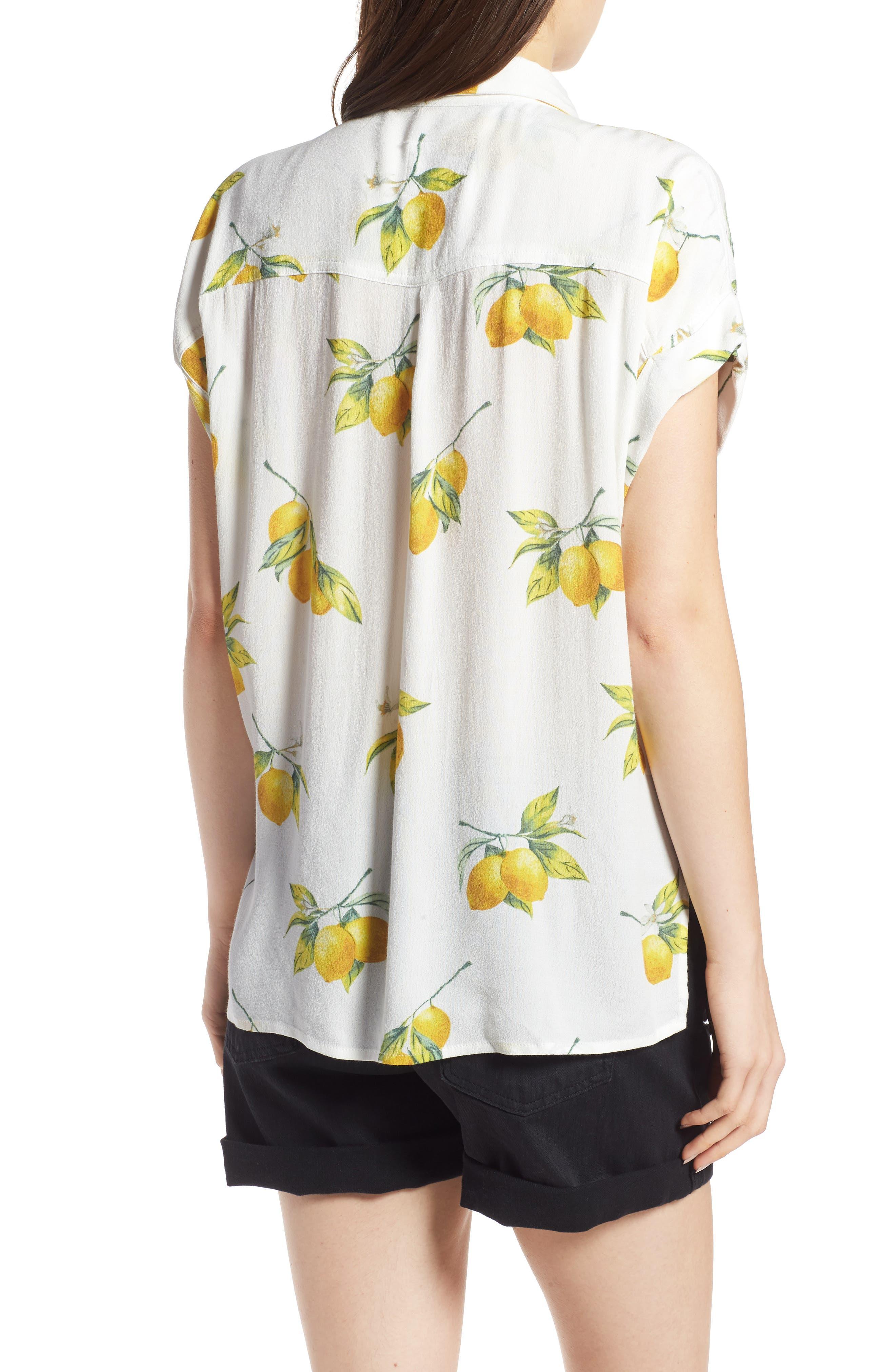 Whitney Print Shirt,                             Alternate thumbnail 2, color,                             100