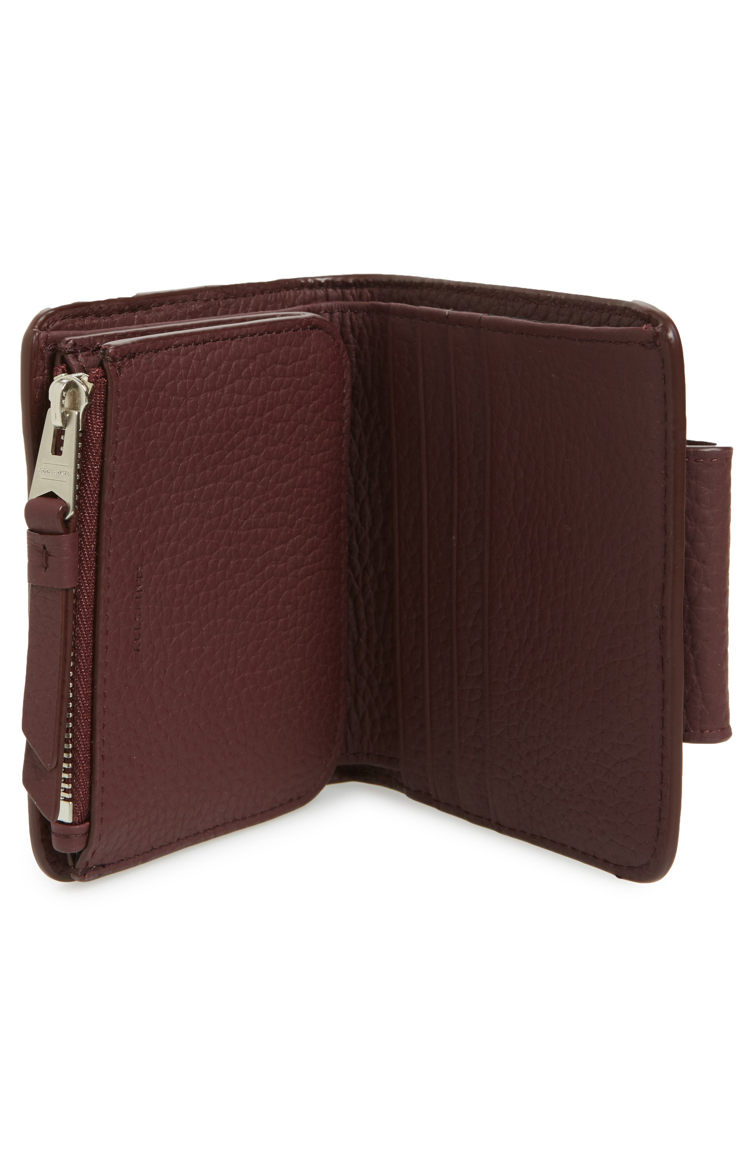 Small Ray Leather Wallet,                             Alternate thumbnail 7, color,