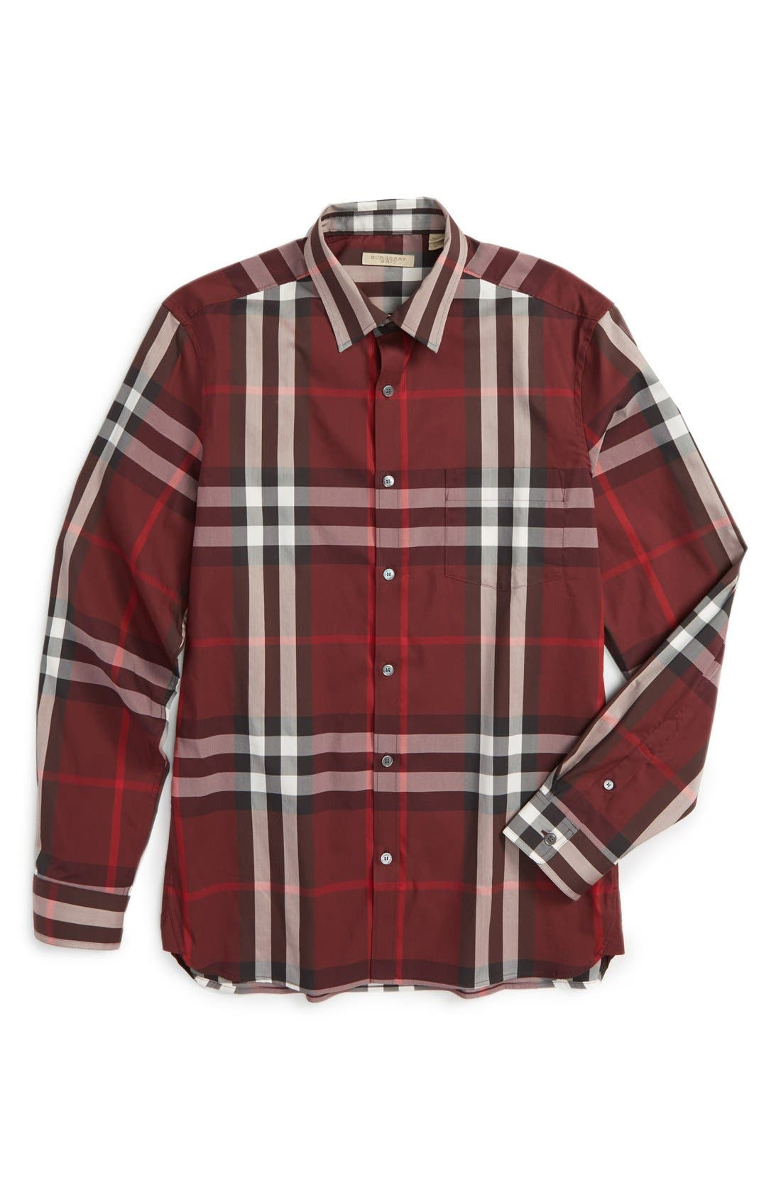 Nelson Check Sport Shirt,                             Alternate thumbnail 130, color,