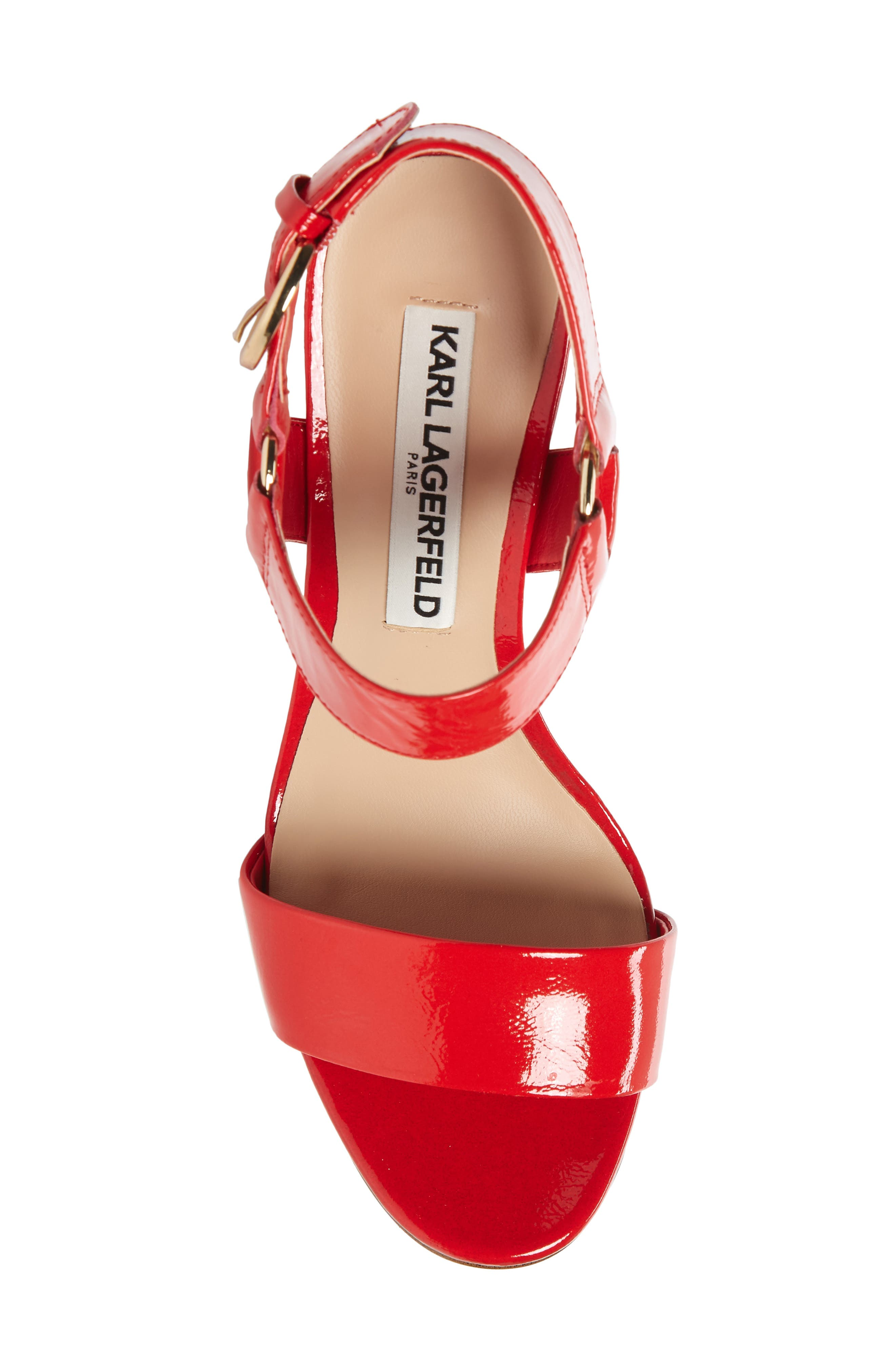 Cieone Sandal,                             Alternate thumbnail 5, color,                             RED PATENT