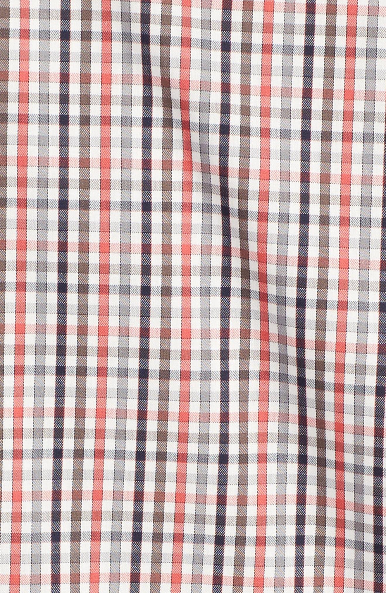Baxter Epic Easy Care Classic Fit Plaid Sport Shirt,                             Alternate thumbnail 5, color,                             622