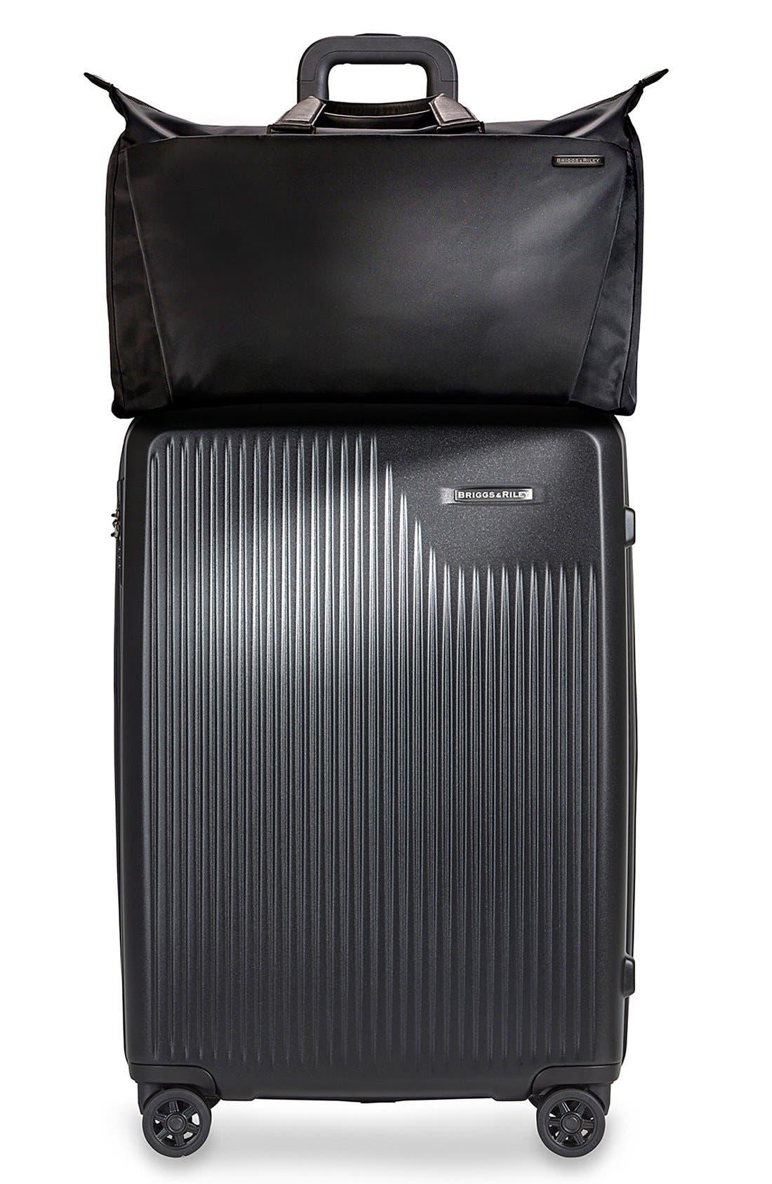 'Sympatico' Expandable Wheeled Packing Case,                             Alternate thumbnail 5, color,                             BLACK