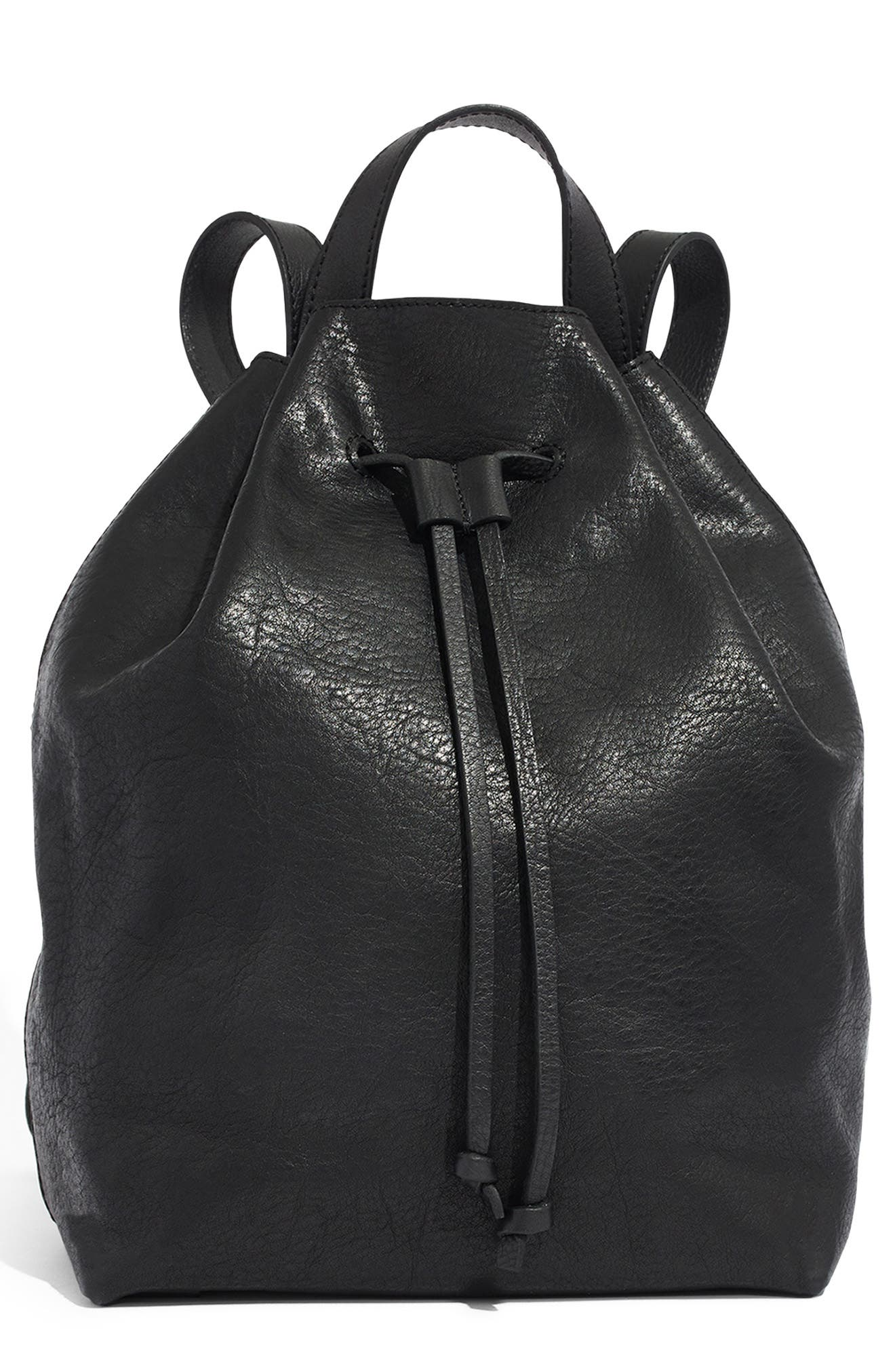 Somerset Leather Backpack,                         Main,                         color, 001