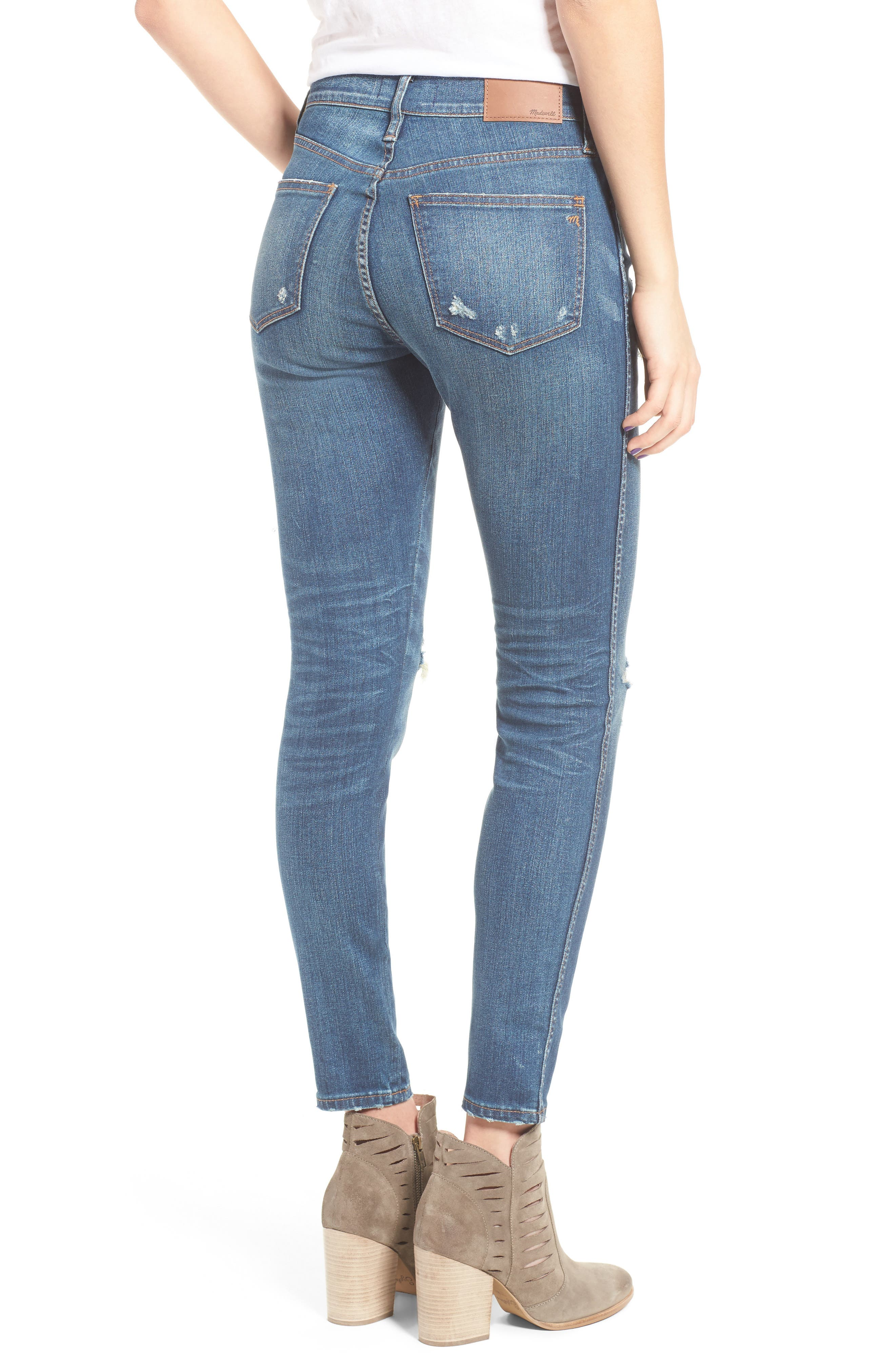High 9-Inch High-Rise Skinny Jeans: Ripped and Patched Edition,                             Alternate thumbnail 2, color,
