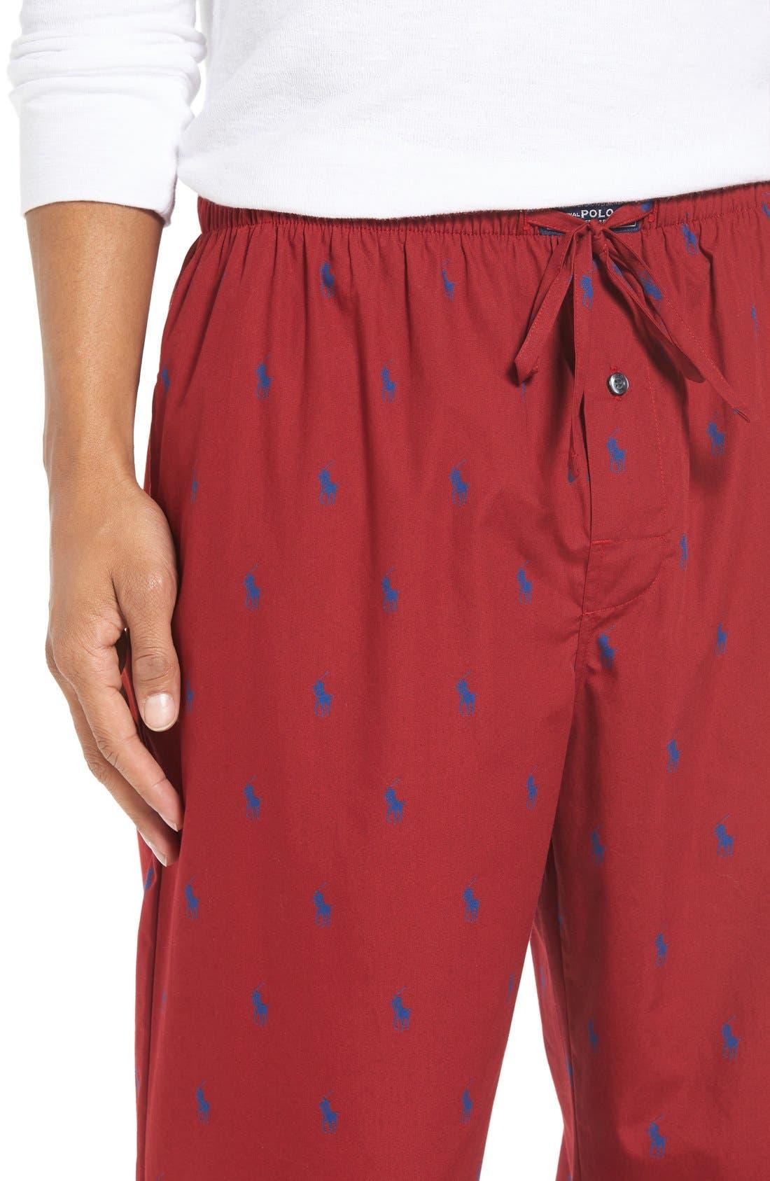 Cotton Lounge Pants,                             Alternate thumbnail 50, color,