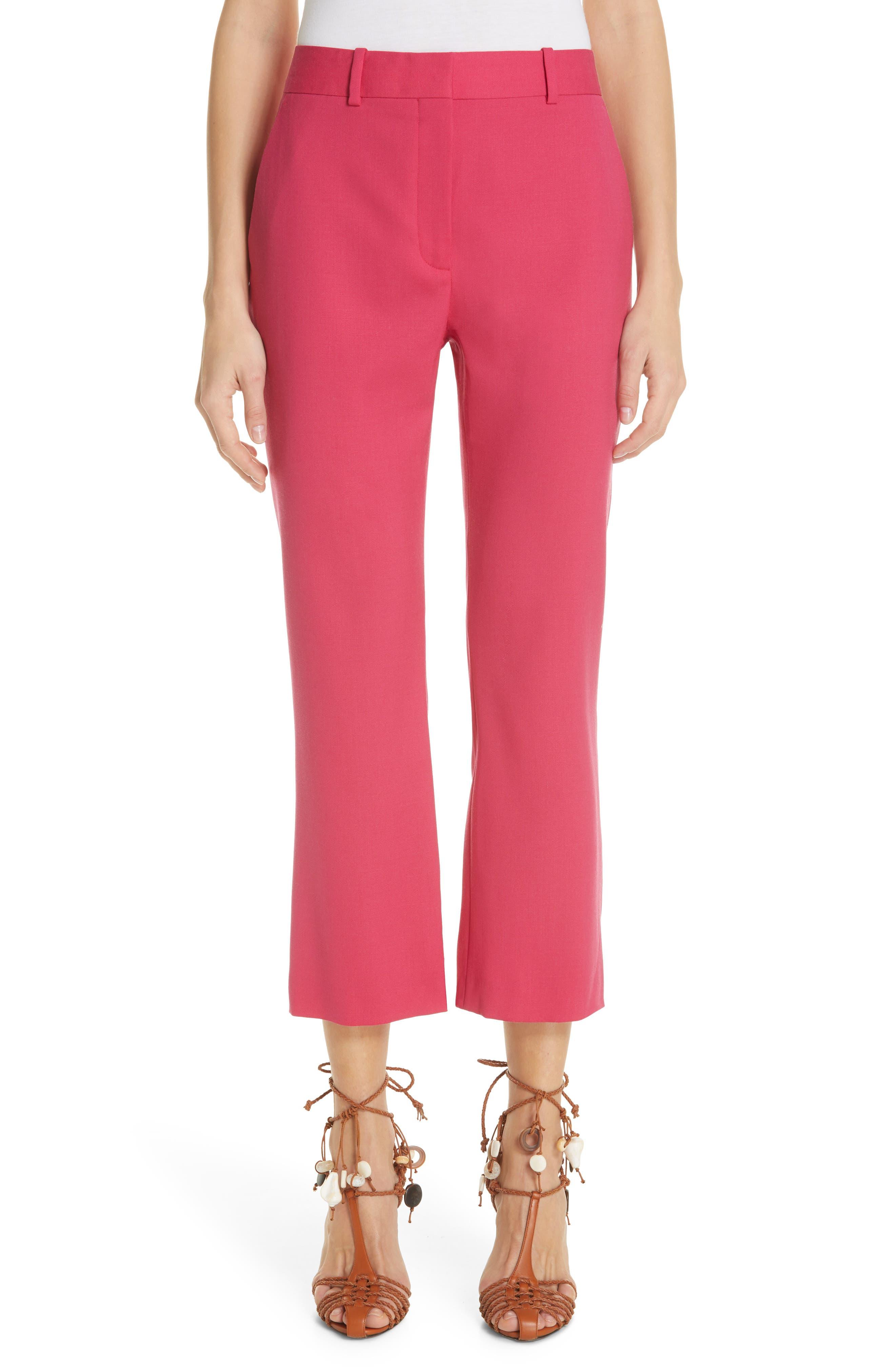 Altuzarra Flare Leg Crop Pants, US / 40 FR - Pink