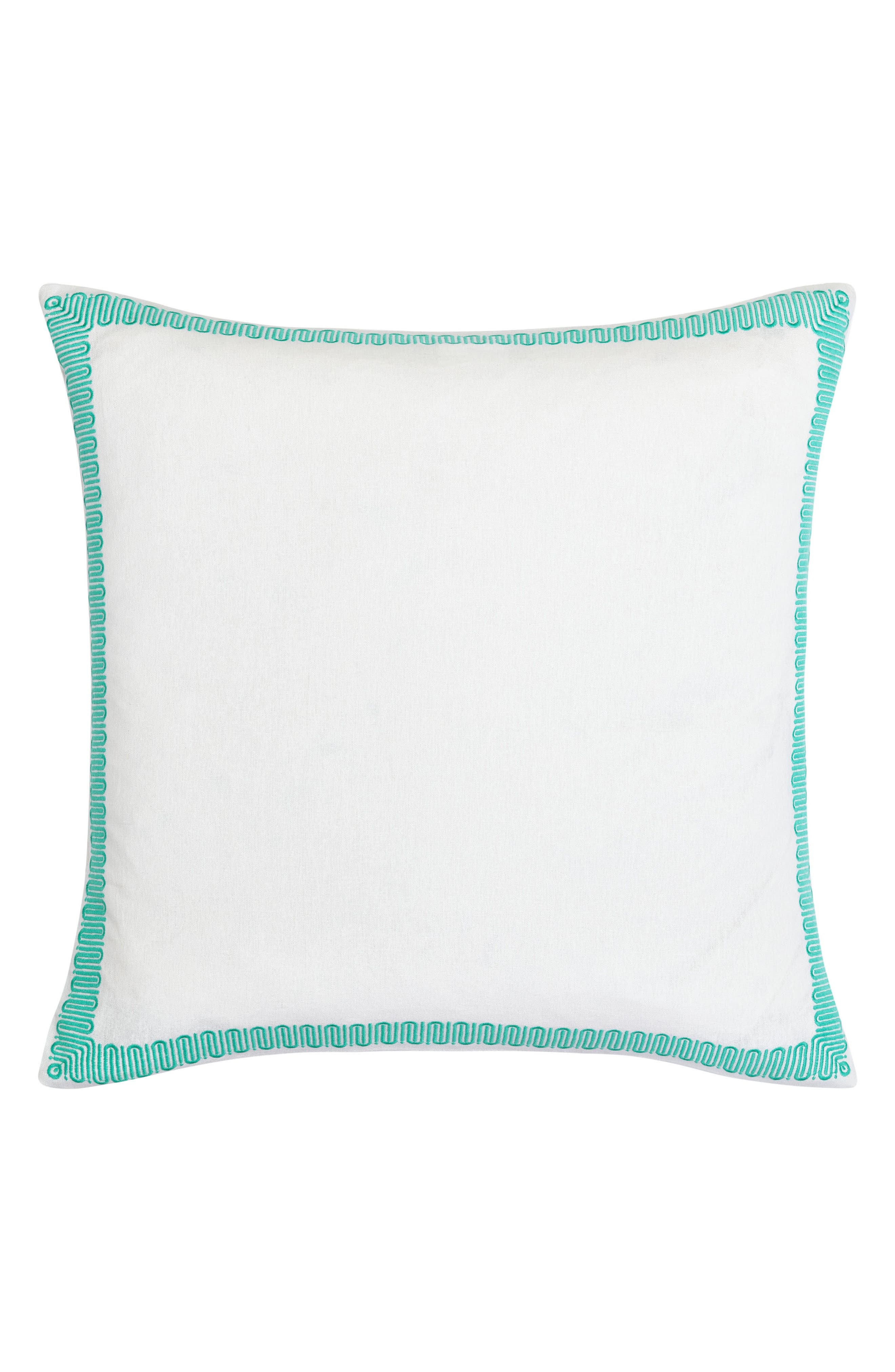 Avalon Euro Sham,                             Main thumbnail 1, color,                             TURQUOISE