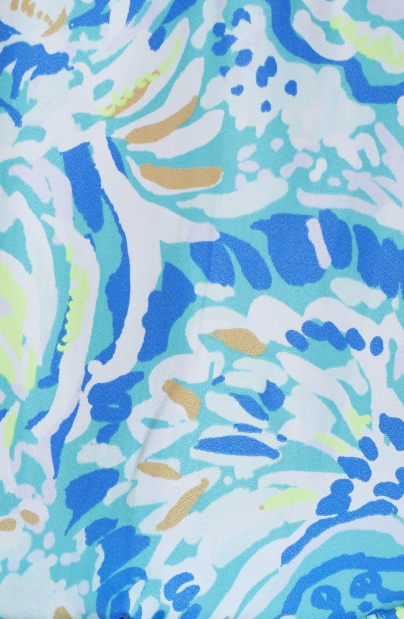 Deanna Sleeveless Romper,                             Alternate thumbnail 5, color,                             BENNET BLUE SALTY SEAS
