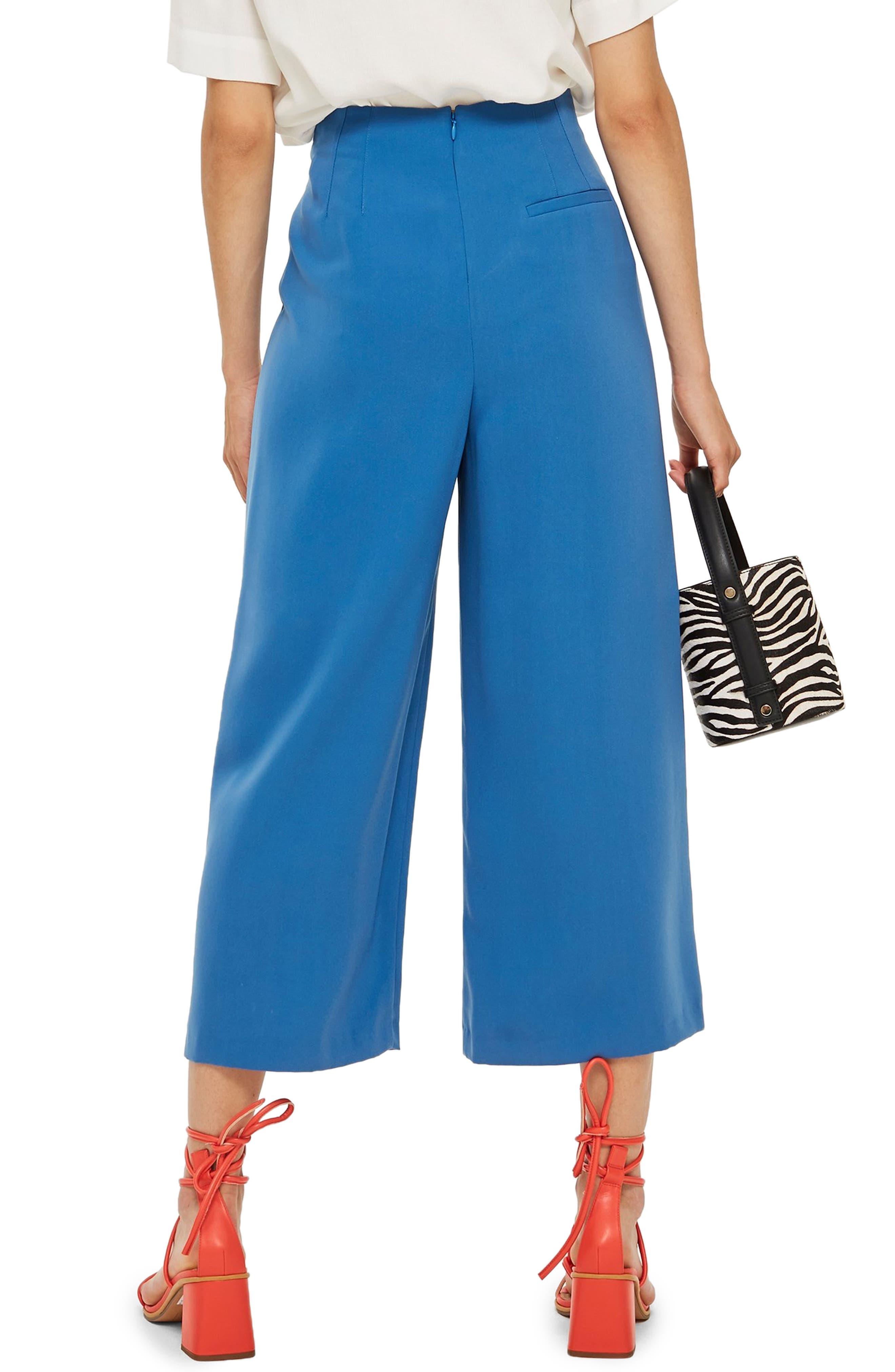 Ivy Crop Wide Leg Trousers,                             Alternate thumbnail 2, color,                             BLUE