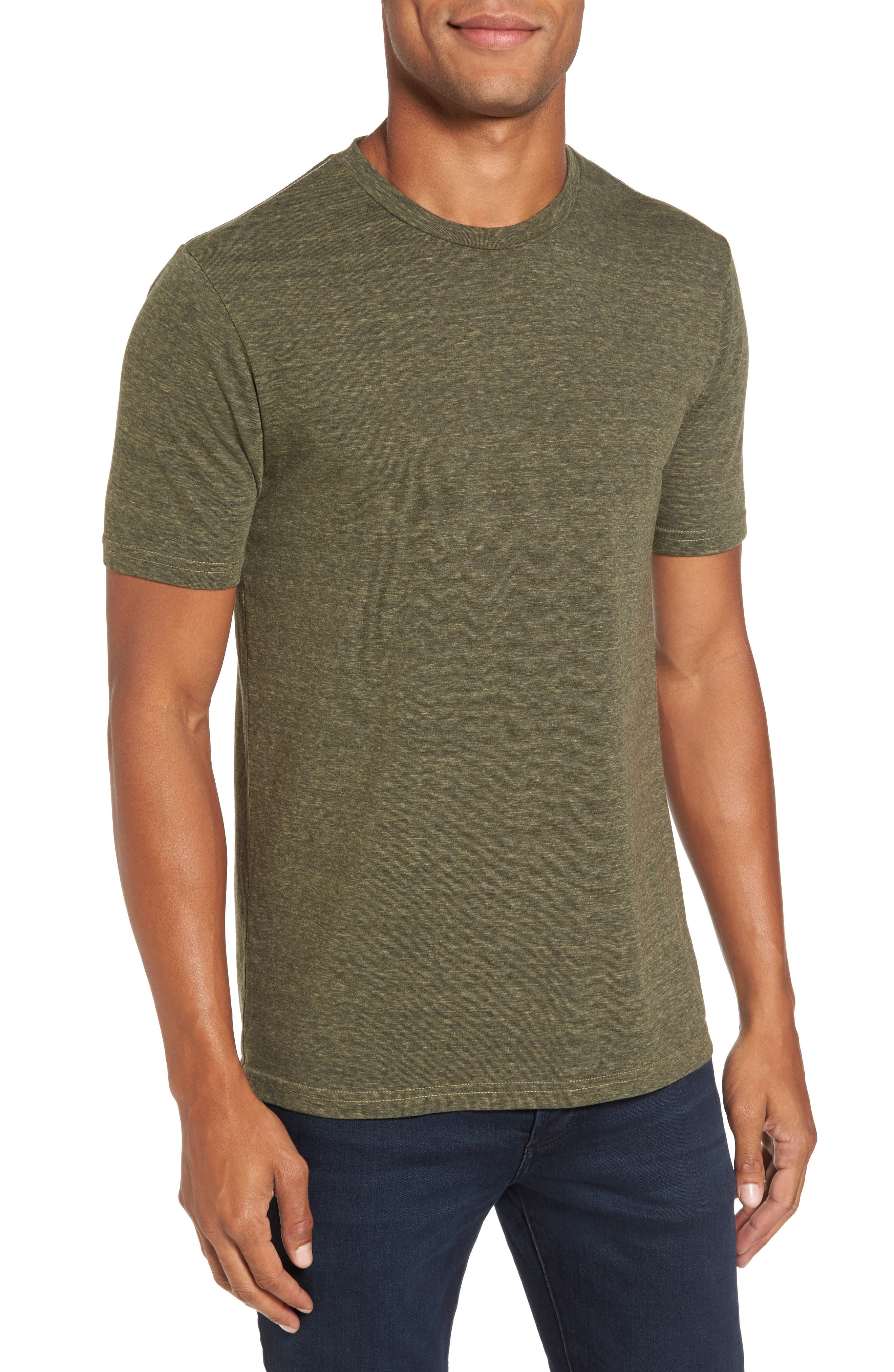 Crewneck Heathered T-Shirt,                             Main thumbnail 1, color,                             313