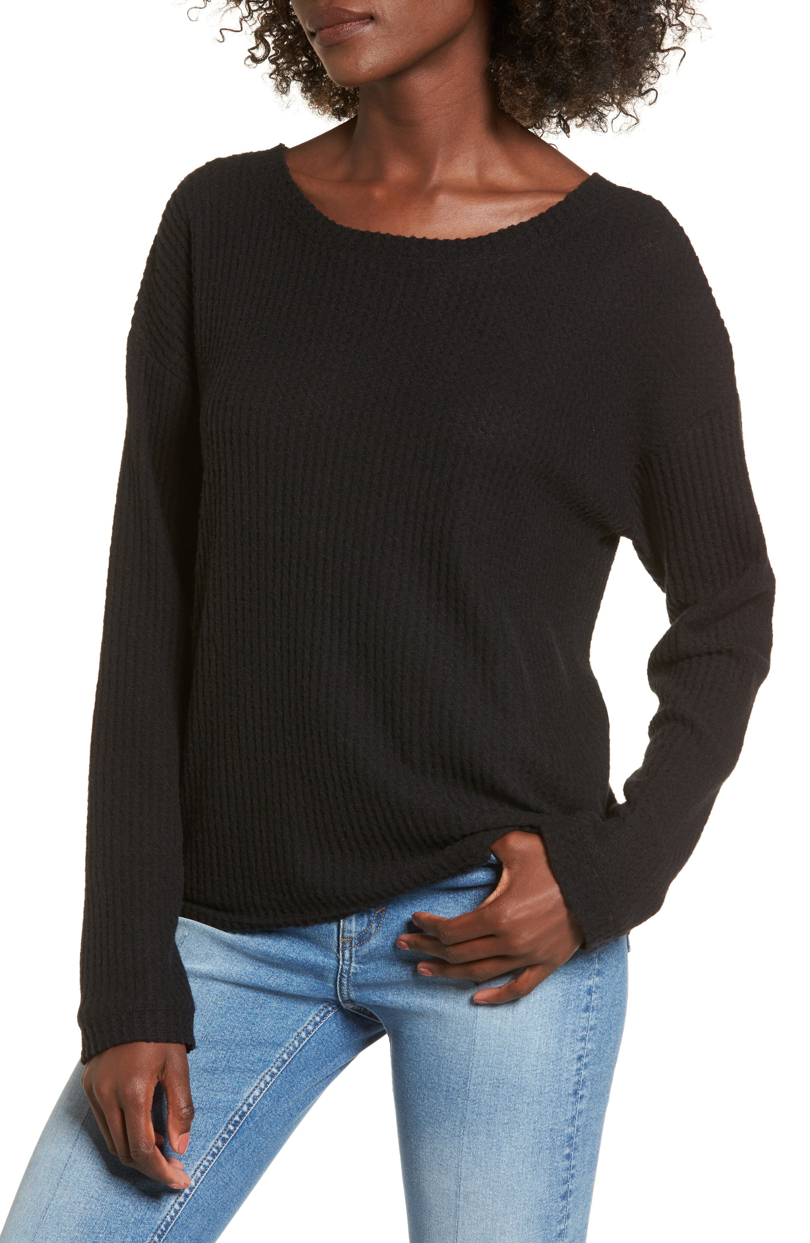 Waffle Knit Top,                         Main,                         color,