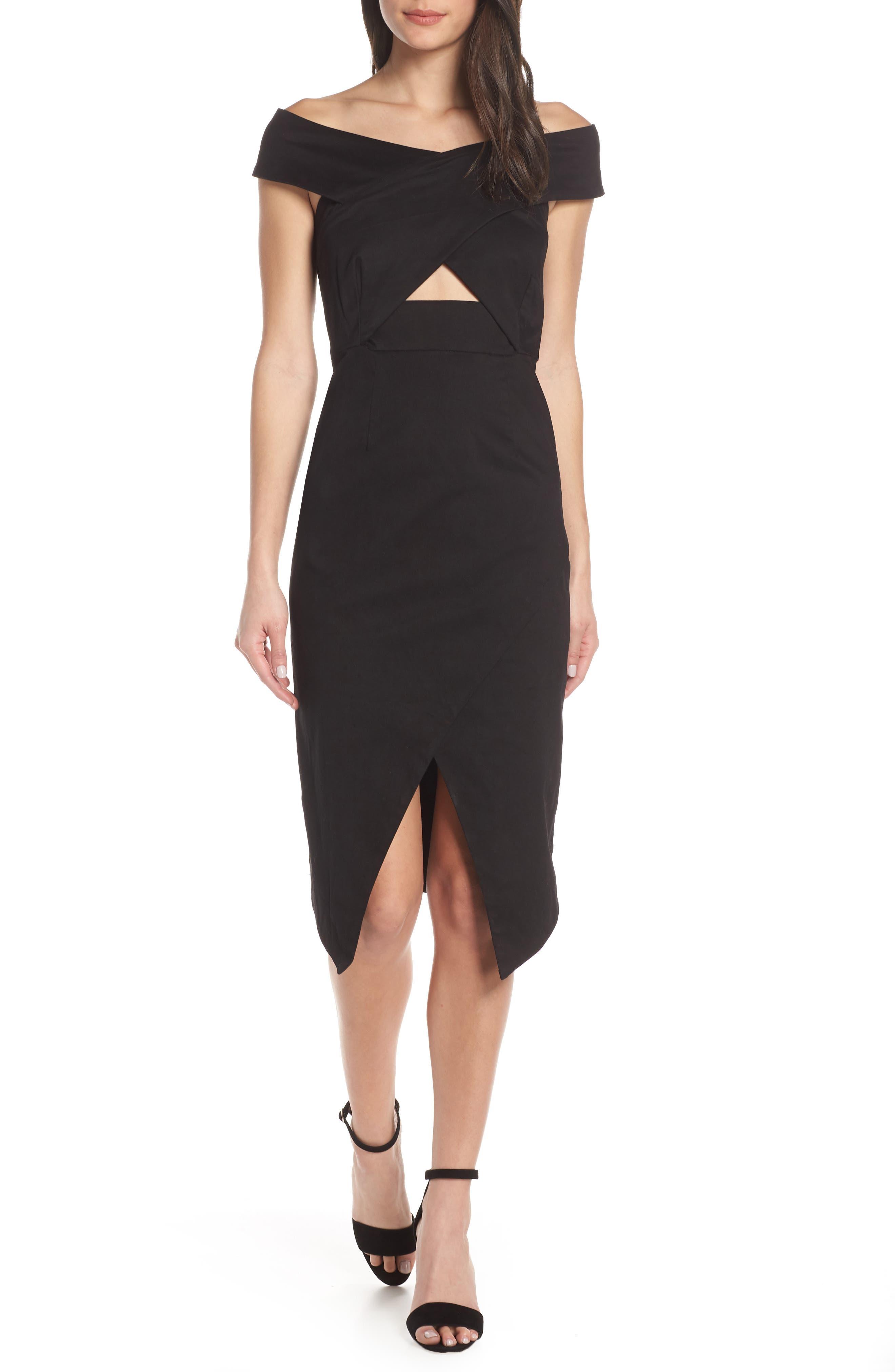 Finders Keepers Destination Sheath Dress, Black