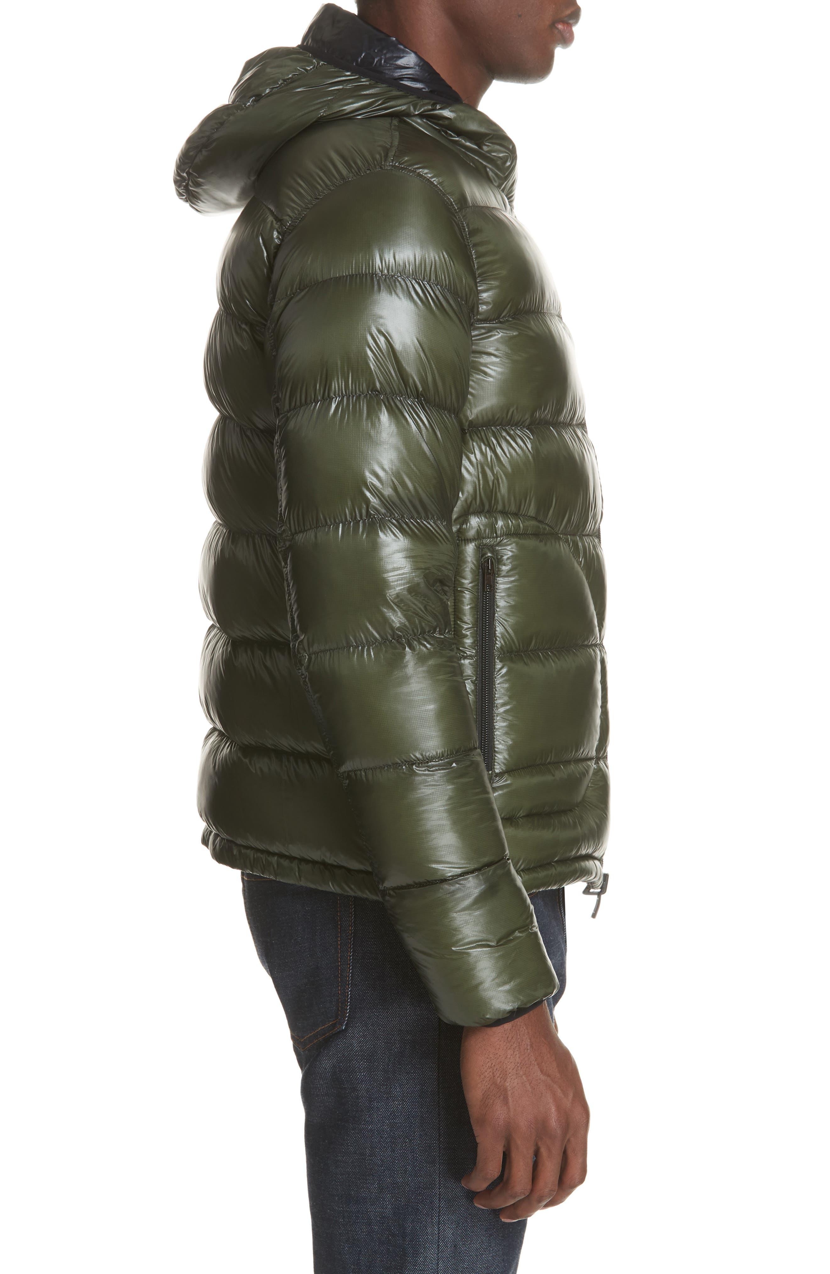 Lightweight Reversible Down Jacket,                             Alternate thumbnail 4, color,                             GREEN