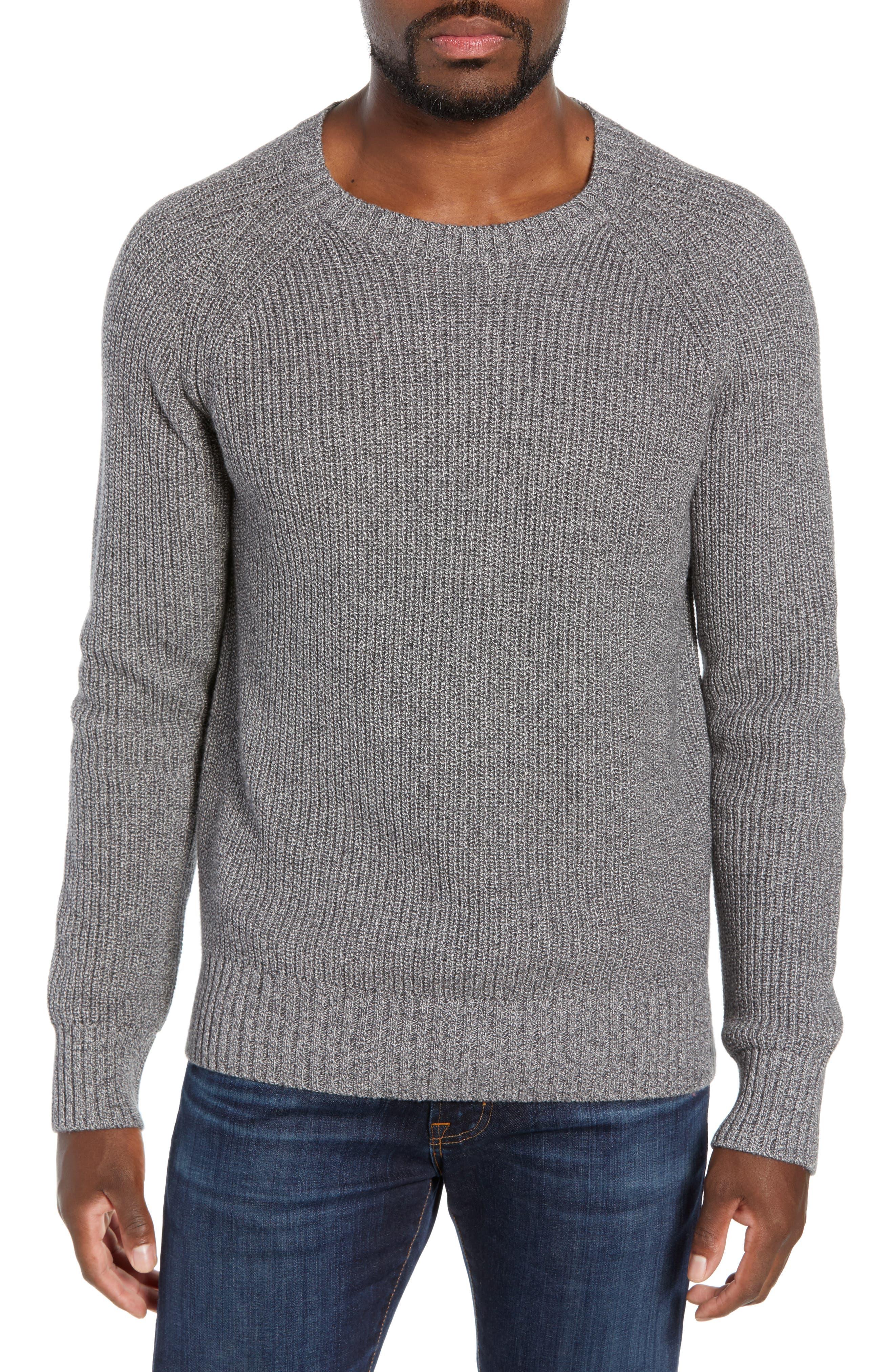 Bonobos Slim Fit Cotton & Cashmere Sweater, Grey