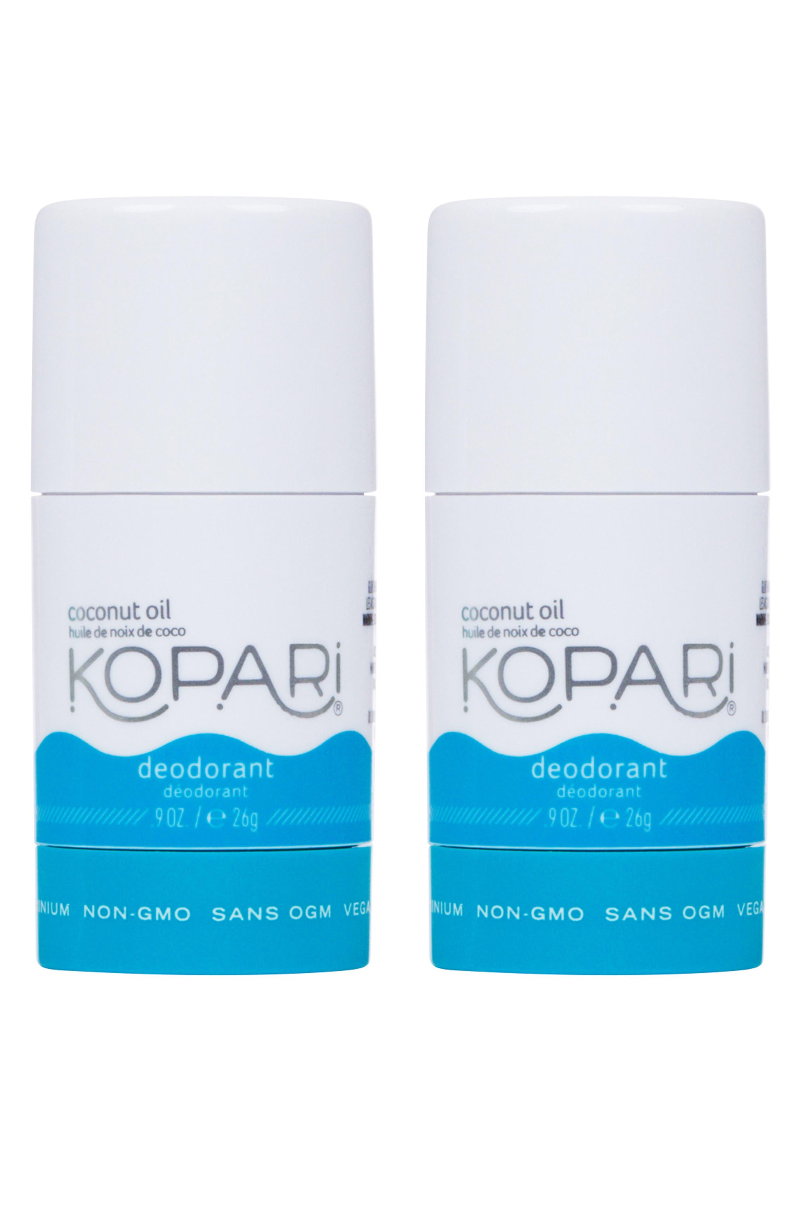 KOPARI,                             Mini Coconut Deodorant Duo,                             Main thumbnail 1, color,                             NO COLOR