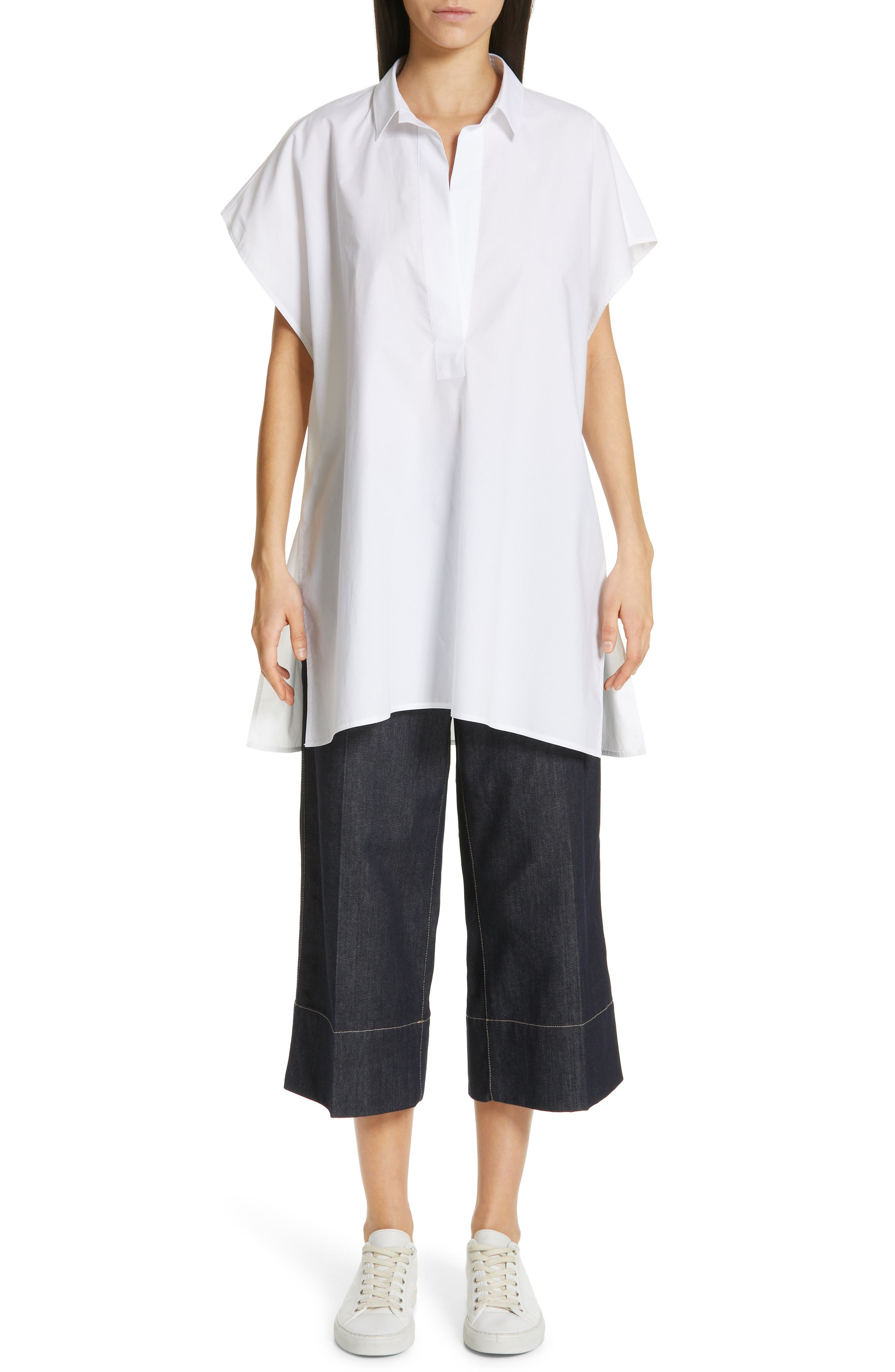 Oversize Dolman Sleeve Blouse,                             Alternate thumbnail 7, color,                             OPTICAL WHITE