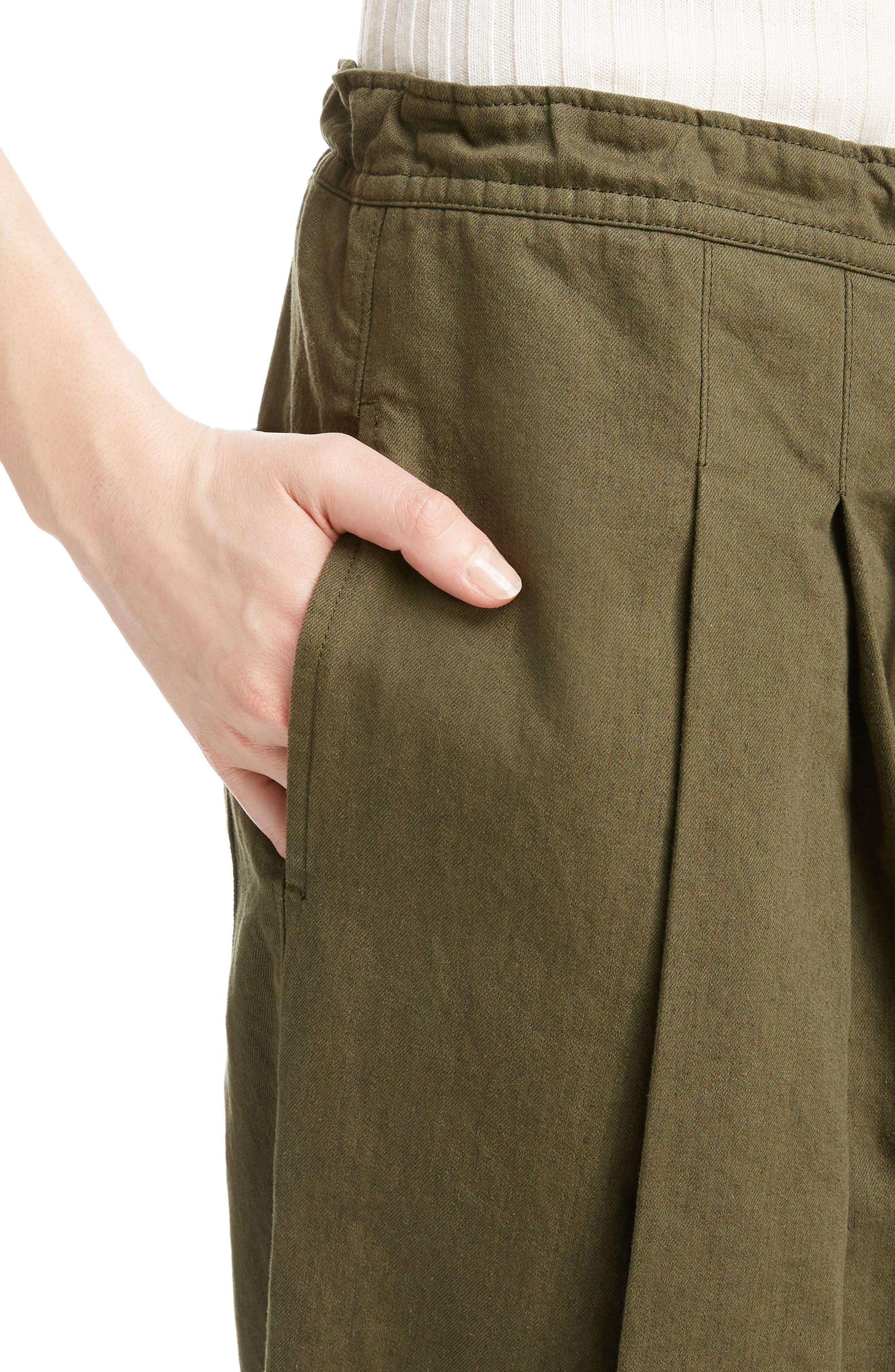 Dart Front Drawstring Pants,                             Alternate thumbnail 4, color,                             300