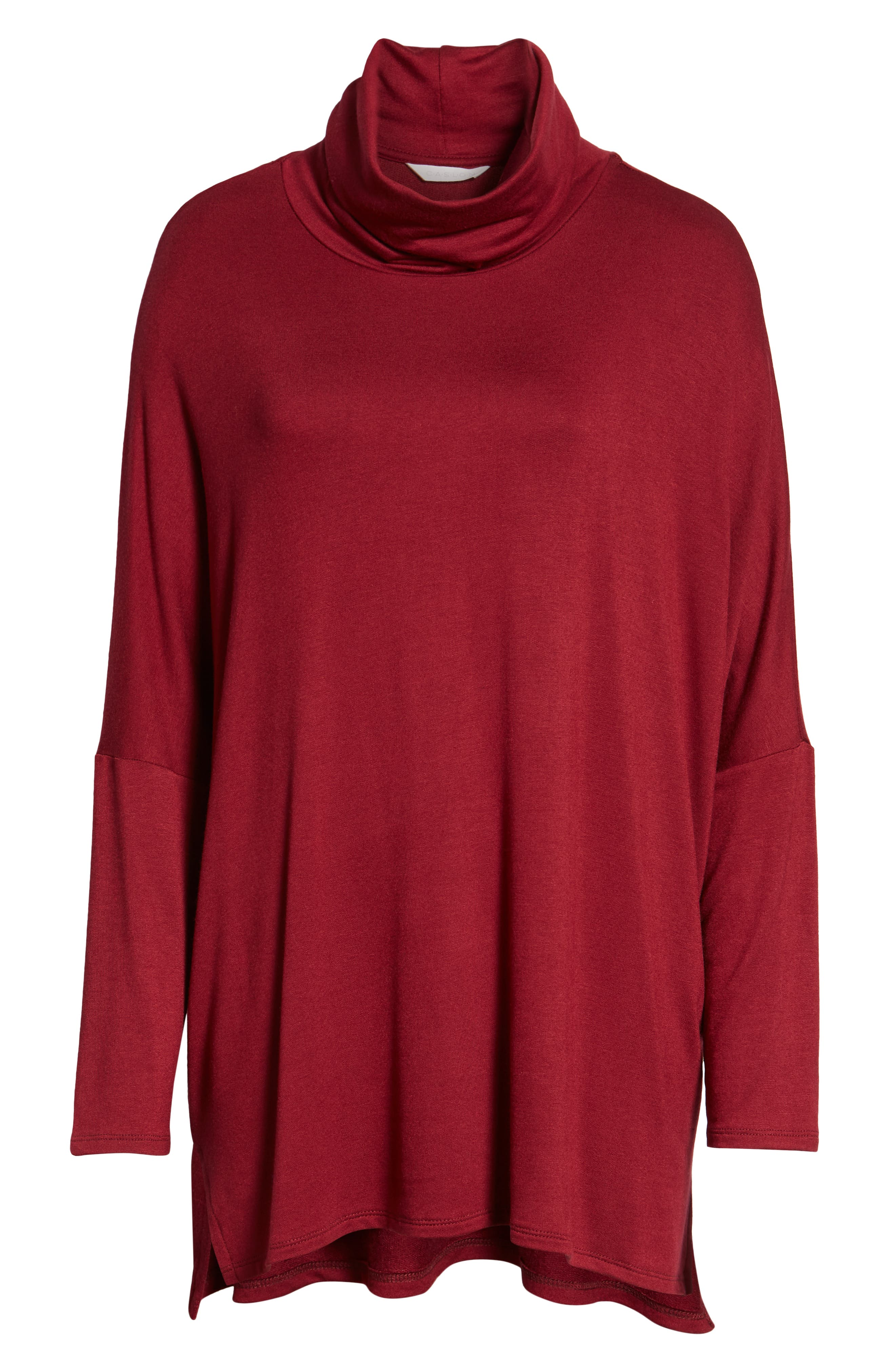 High/Low Tunic,                             Alternate thumbnail 7, color,                             MAROON