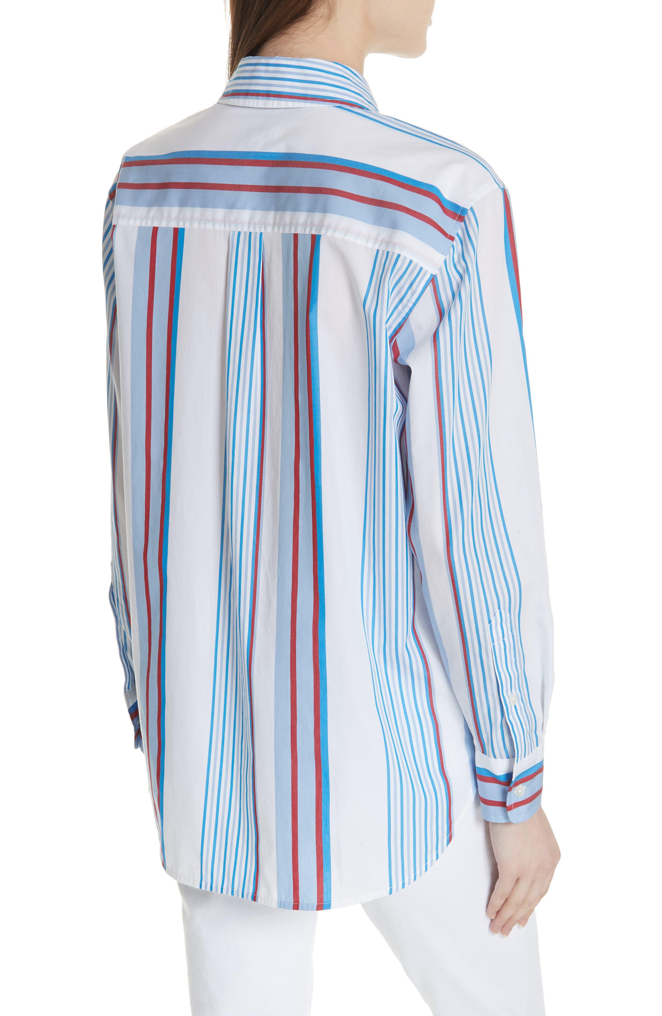 Margaux Stripe Shirt,                             Alternate thumbnail 2, color,                             BLUE WHITE MULTI
