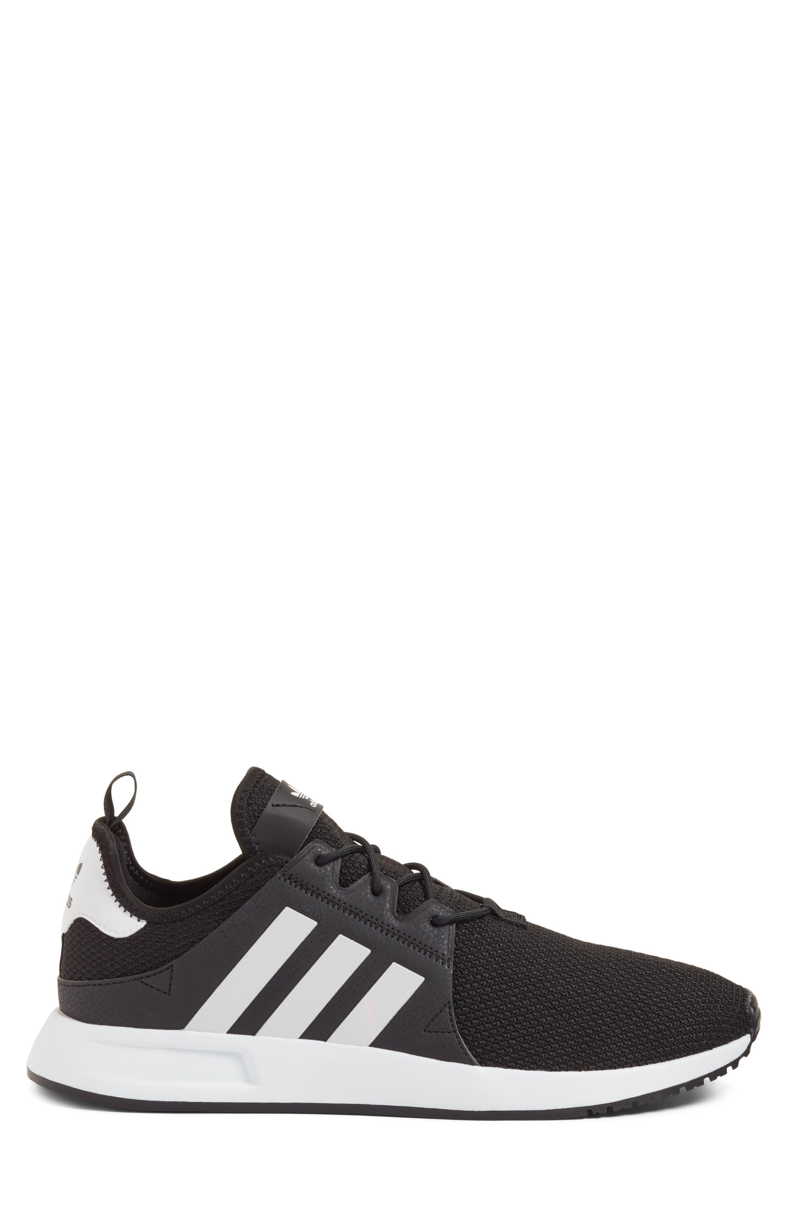 X_PLR Sneaker,                             Alternate thumbnail 3, color,                             BLACK/ WHITE/ BLACK