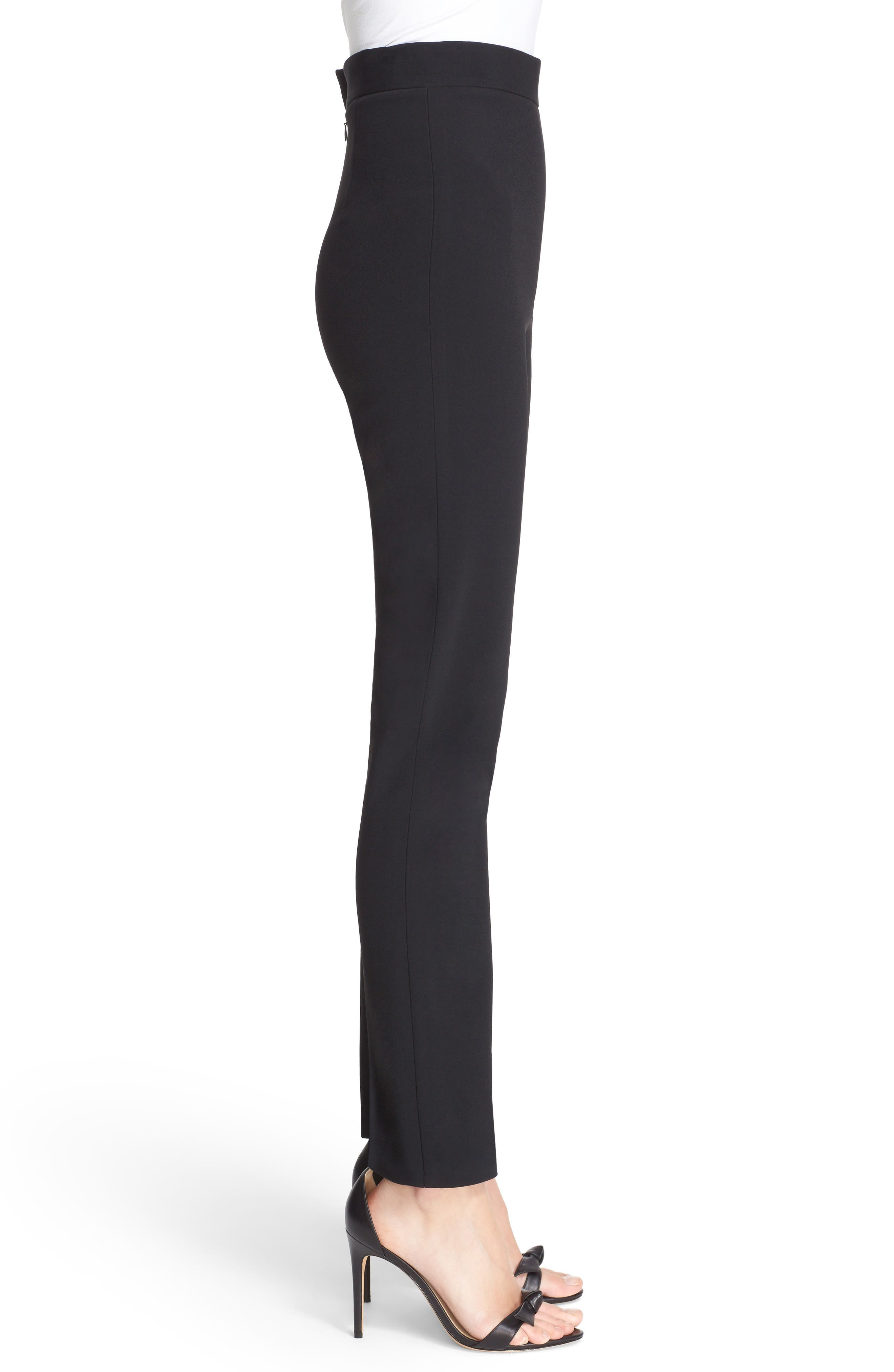 Skinny Cady Crepe Pants,                             Alternate thumbnail 4, color,