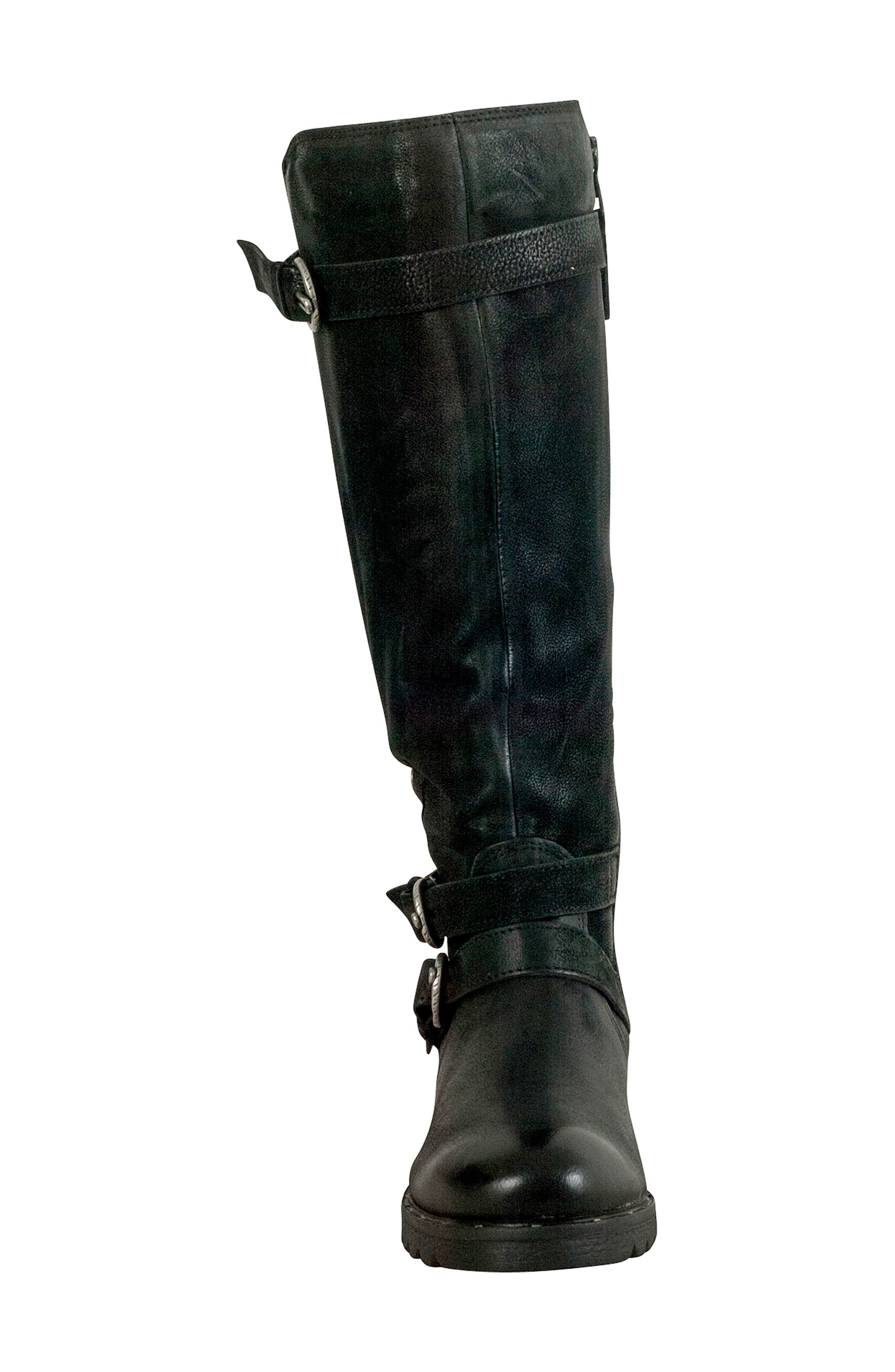 Prim Knee High Boot,                             Alternate thumbnail 4, color,                             BLACK LEATHER