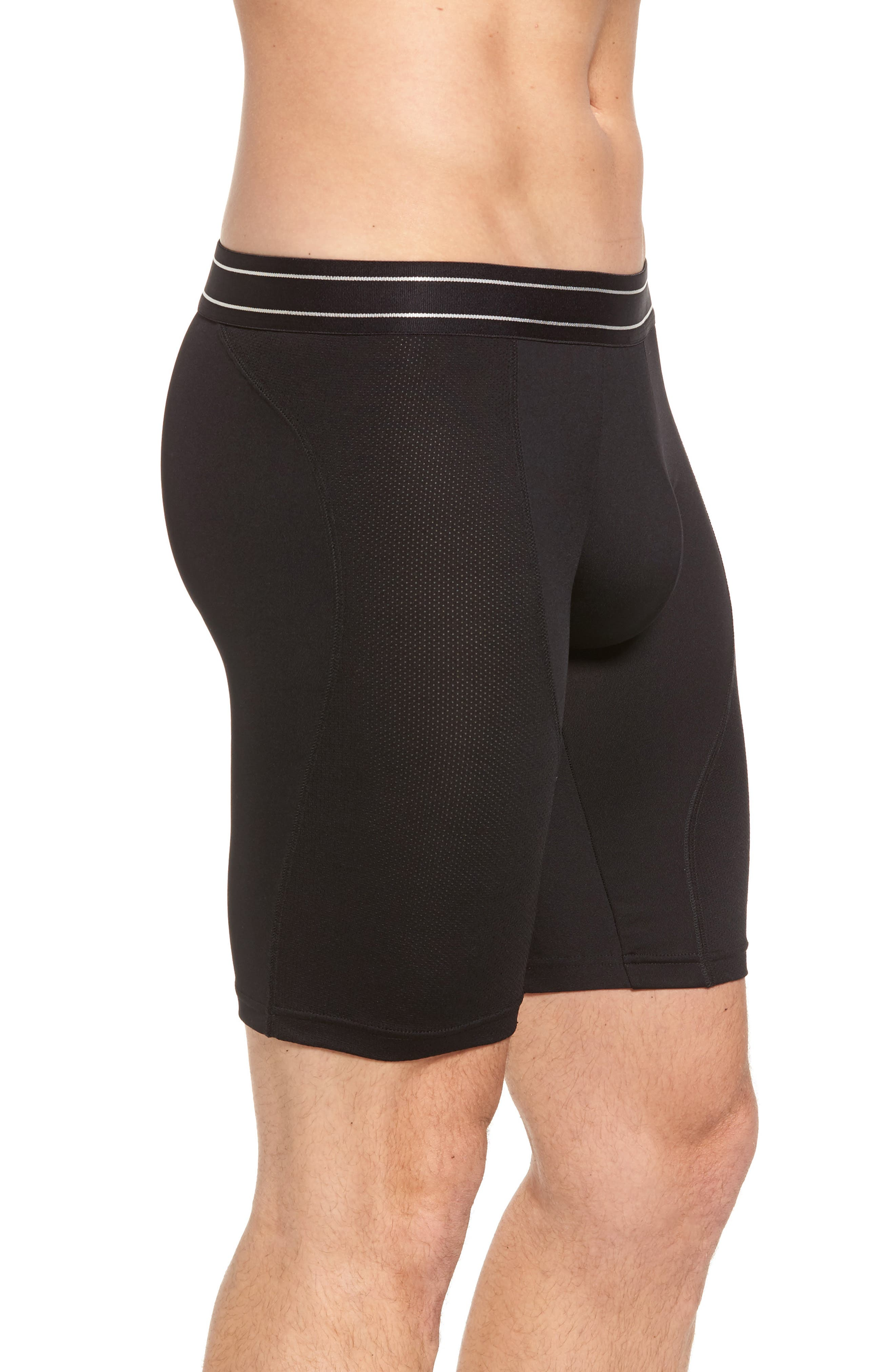 Tech-Smart Long Leg Boxer Briefs,                             Alternate thumbnail 3, color,                             001