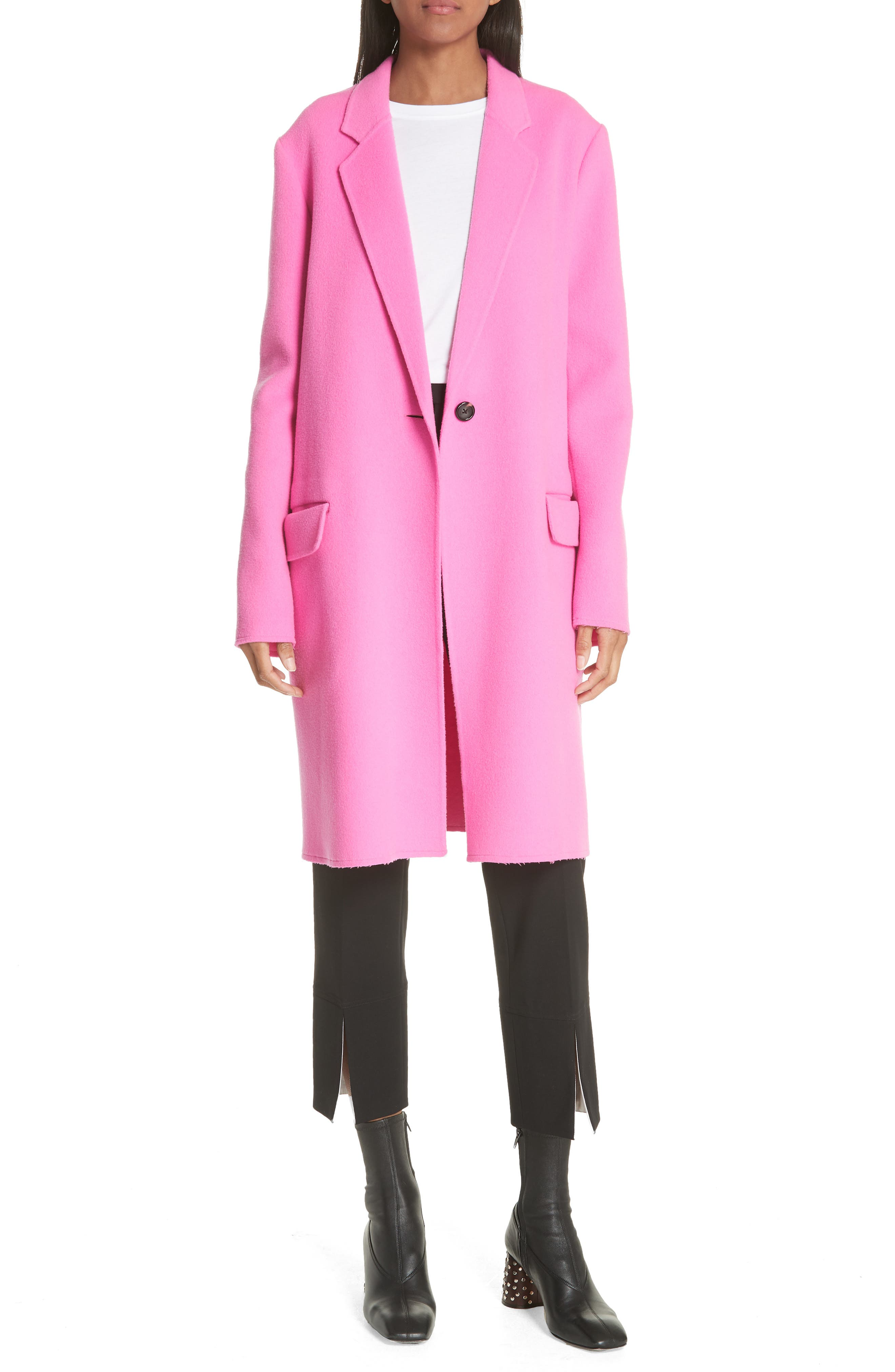Double Face Wool & Cashmere Coat,                             Alternate thumbnail 7, color,                             694
